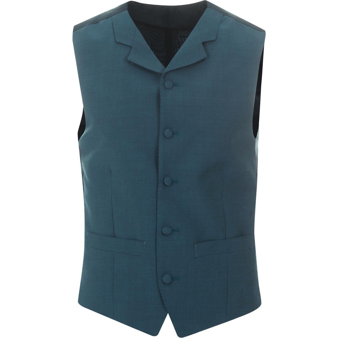 MADCAP ENGLAND Mod Mohair Tonic Waistcoat (Teal)