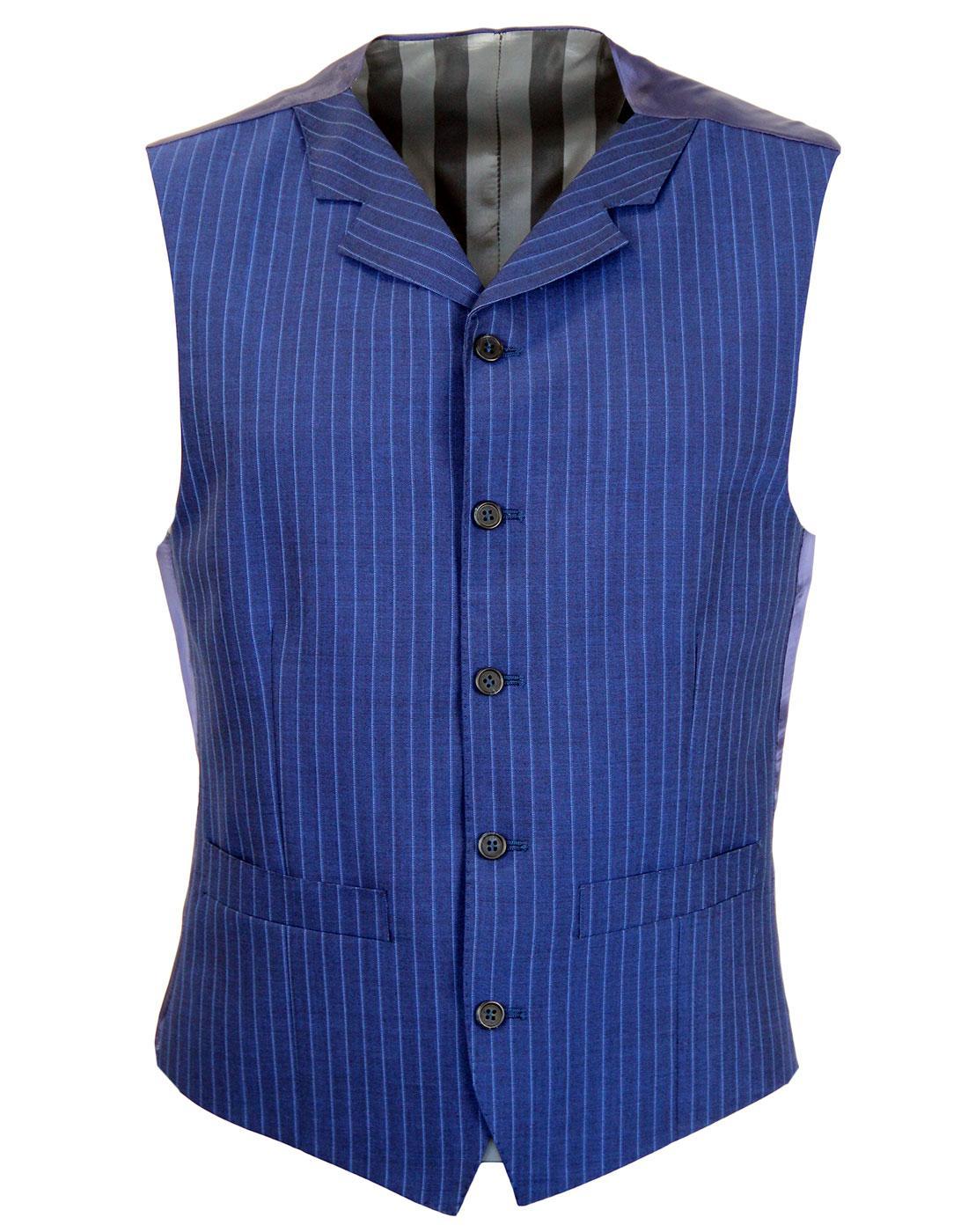 MADCAP ENGLAND Mod Pinstripe High Fasten Waistcoat
