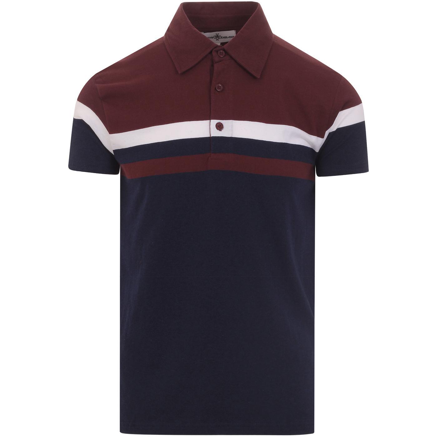 Jimmy The Gent MADCAP ENGLAND Mod Stripe Polo (P)