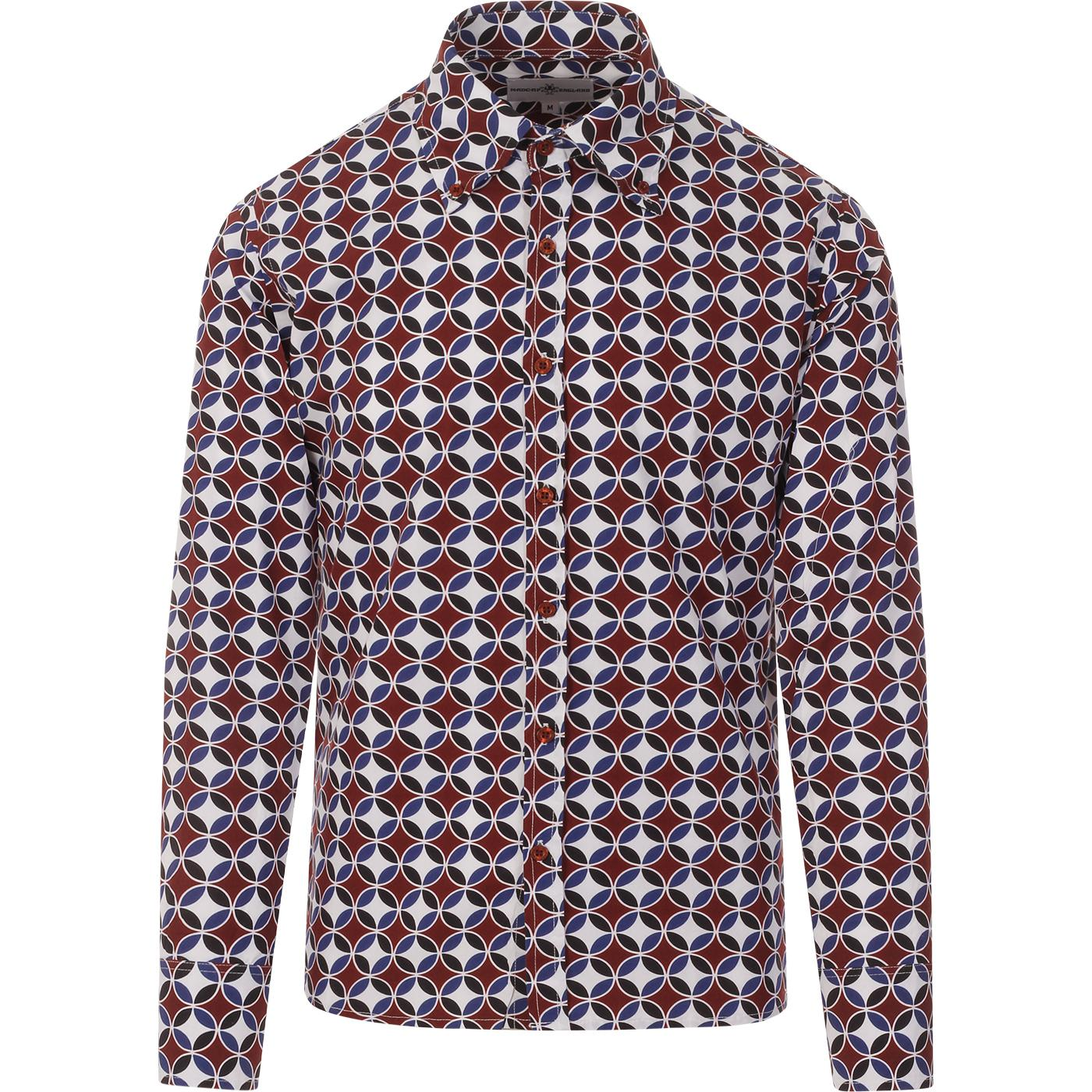 Trip 2nd Sunset MADCAP England 60s Circles Shirt