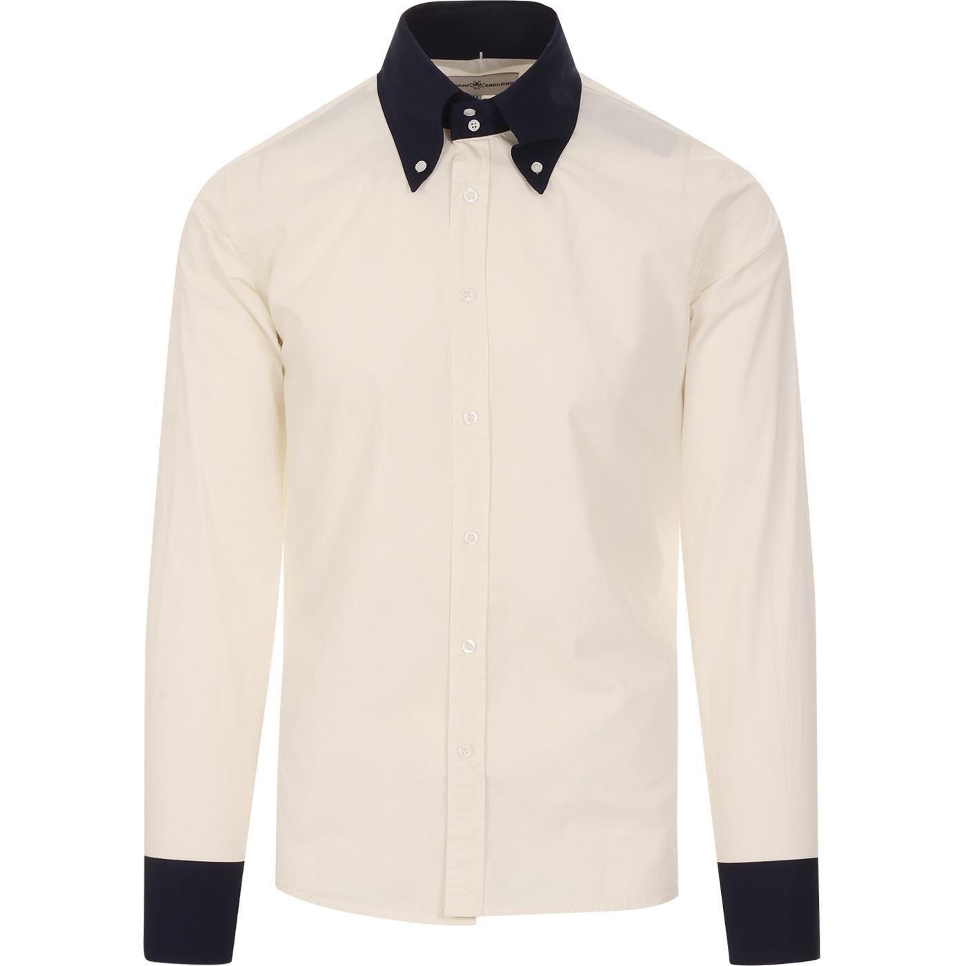 Casino MADCAP ENGLAND Mod Two Tone BD Shirt (OW/N)