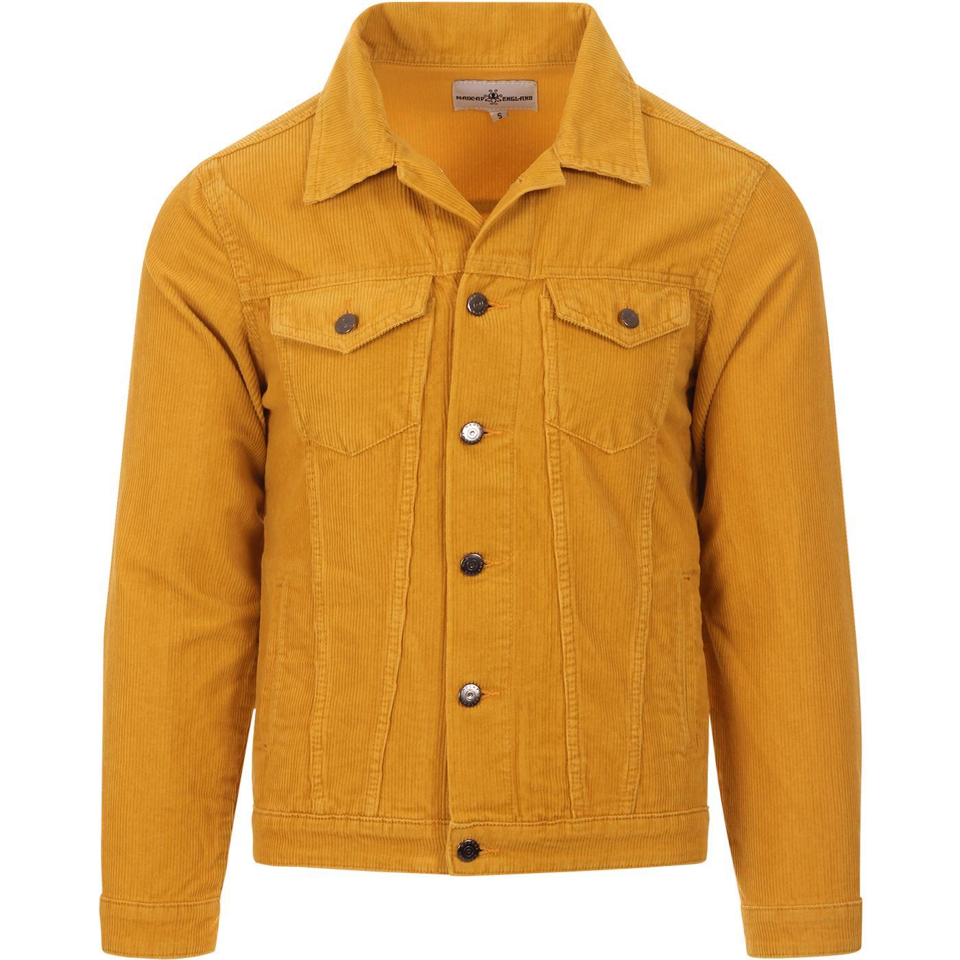 New Woburn MADCAP ENGLAND Cord Western Jacket GOLD