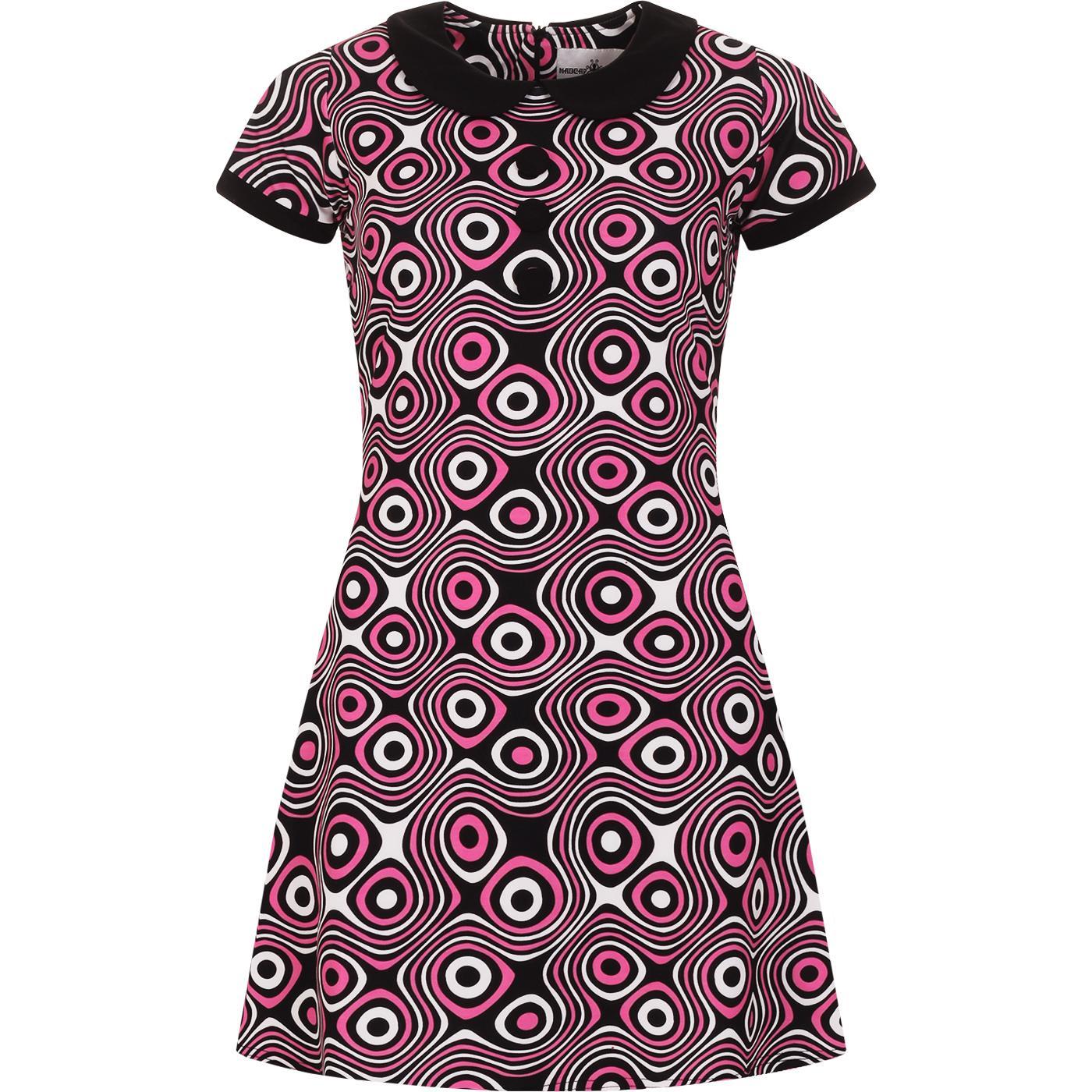Dollierocker Op Art MADCAP ENGLAND Mod Dress -Pink