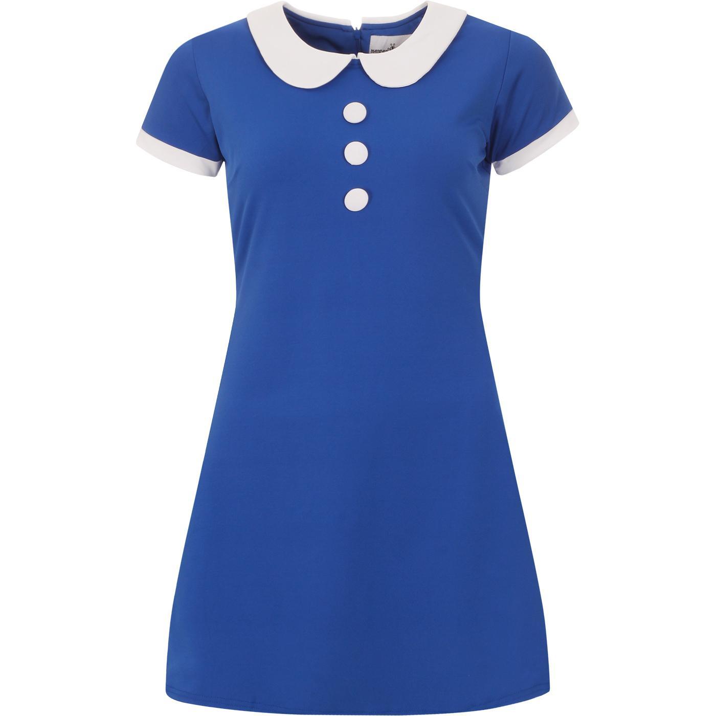 Dollierocker MADCAP ENGLAND 60s Mod Dress (Blue)