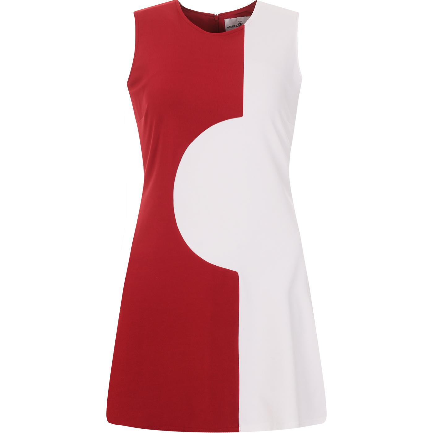 Golightly MADCAP ENGLAND 60s Mod 2-Tone Dress Red