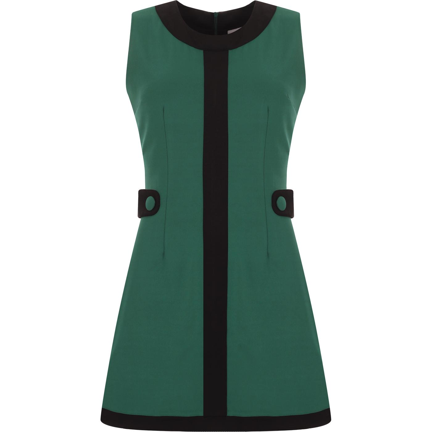 À Go-go MADCAP ENGLAND 60s Mod Mini Dress (Teal)