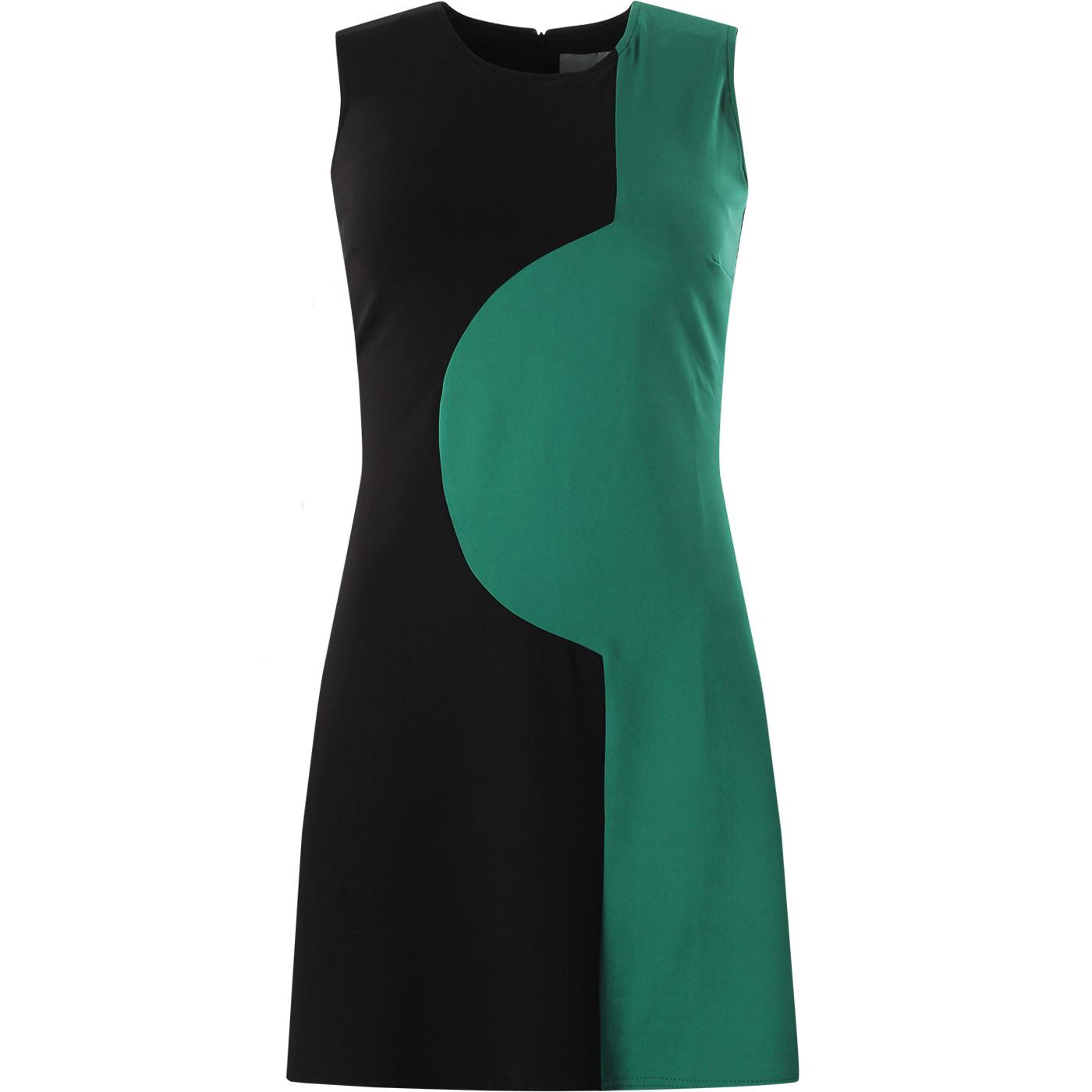 Golightly MADCAP ENGLAND 60s Mod 2-Tone Dress B/T