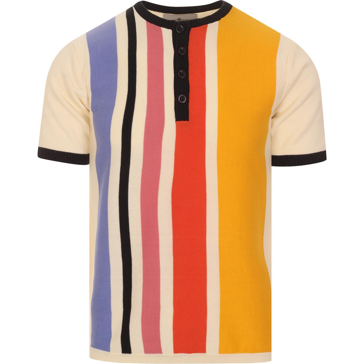 Zen MADCAP ENGLAND Mod Stripe Knit Grandad Top
