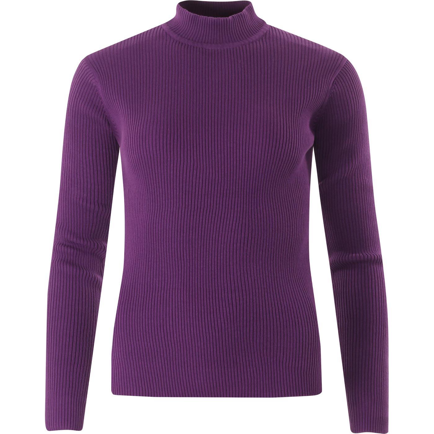 Brigitte MADCAP ENGLAND Ribbed Turtleneck Top (IP)