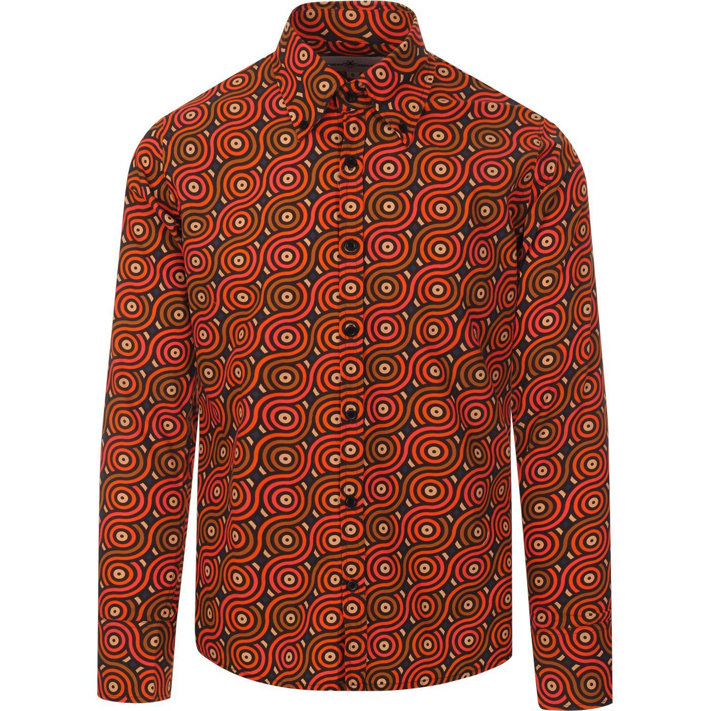 Trip Rainbow Rolls MADCAP ENGLAND Retro 70s Shirt