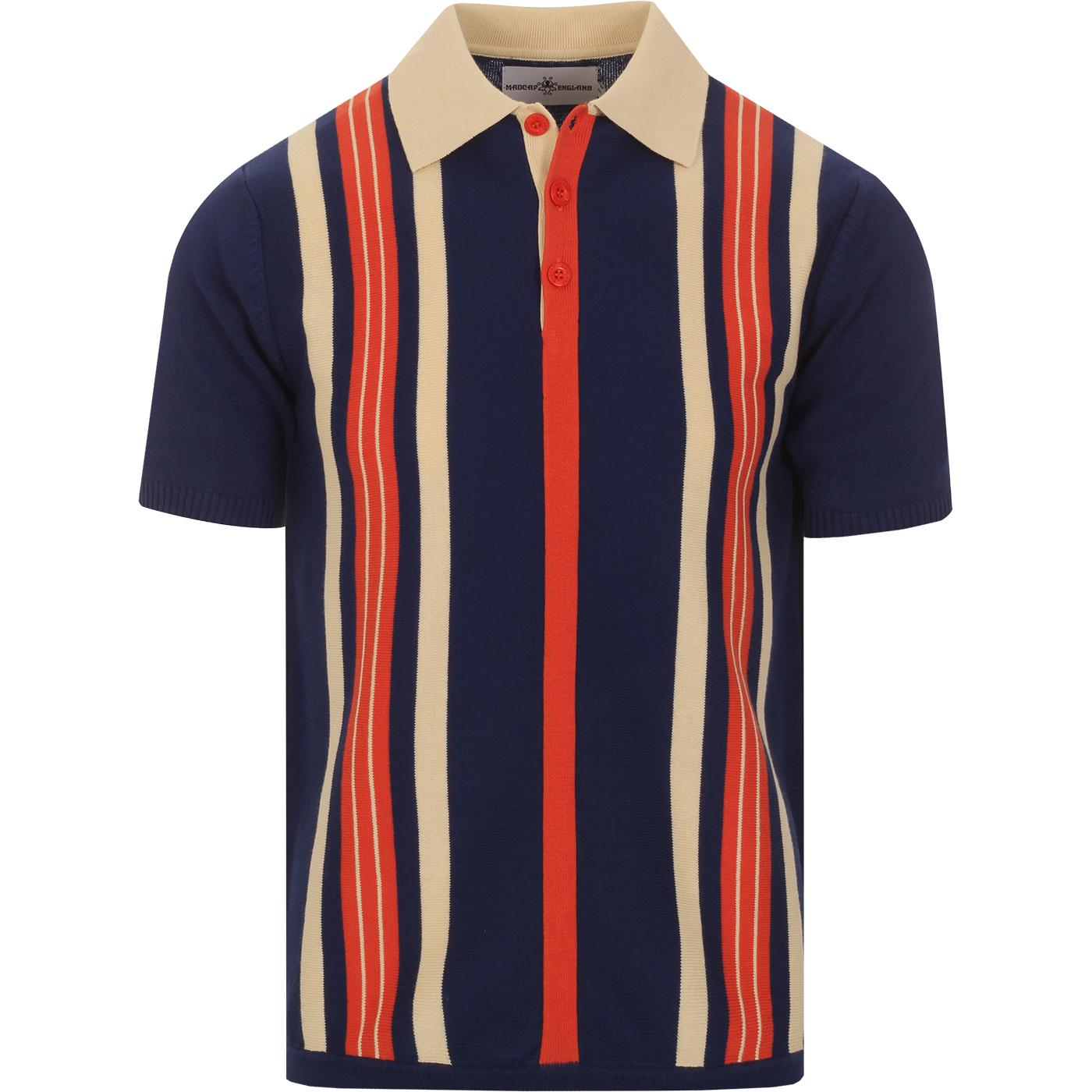 Farlowe MADCAP ENGLAND Mod Stripe Knit Polo Top