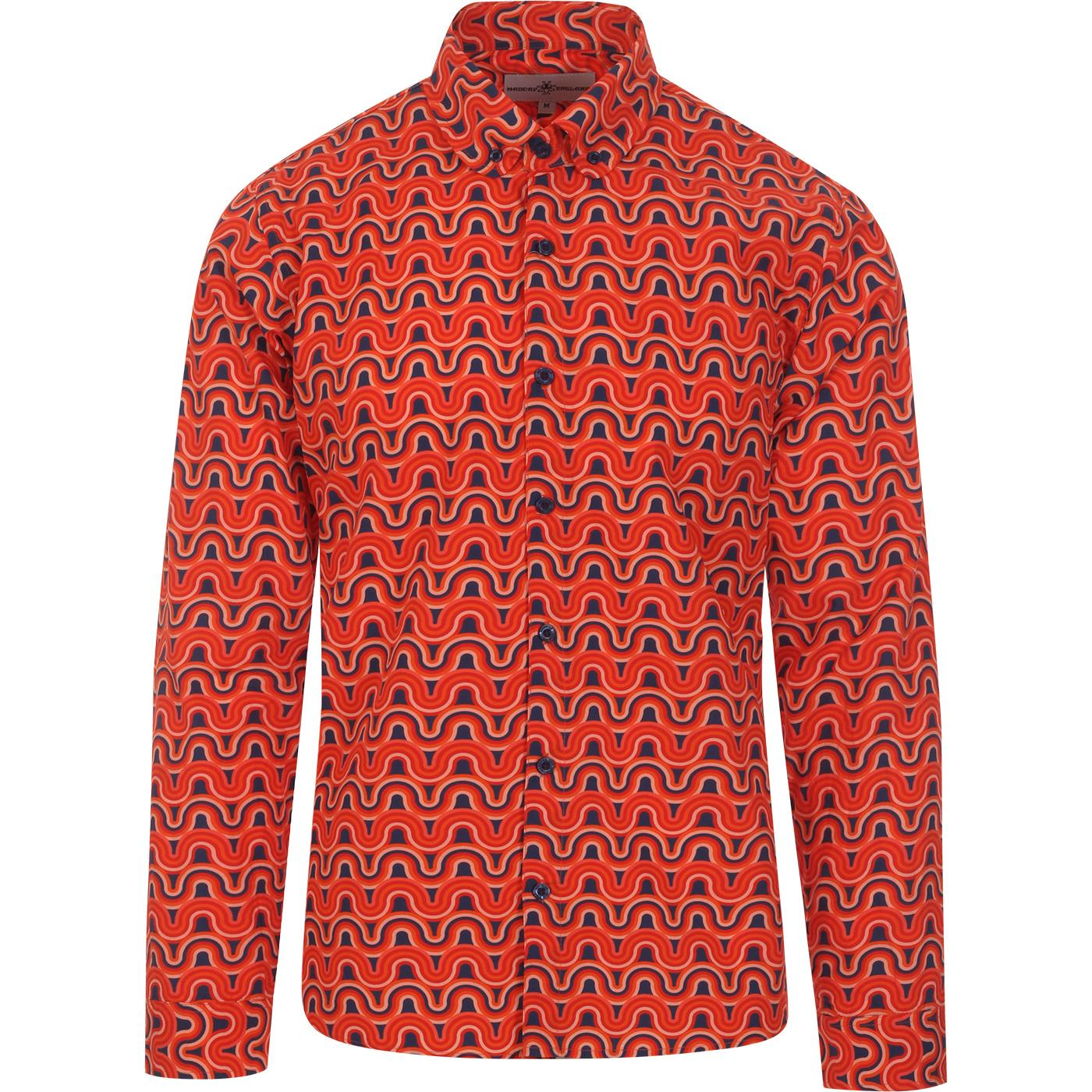 Kinfauns Rainbow MADCAP ENGLAND Penny Collar Shirt