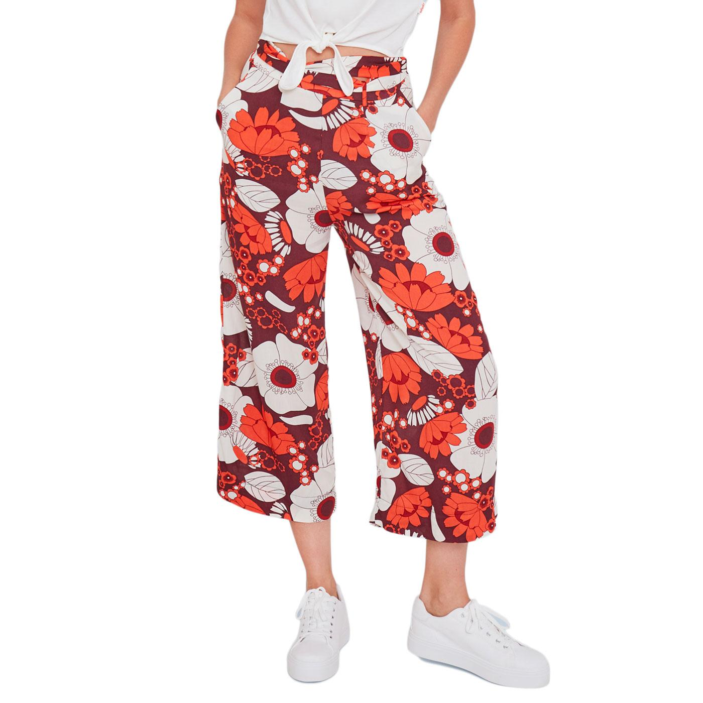 A New Idea MADEMOISELLE YEYE Retro Floral Trousers