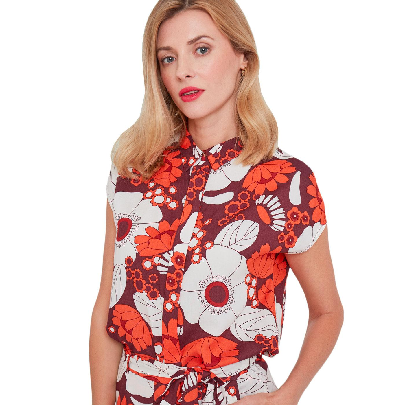 And Now? MADEMOISELLE YEYE Retro 60s Floral Top