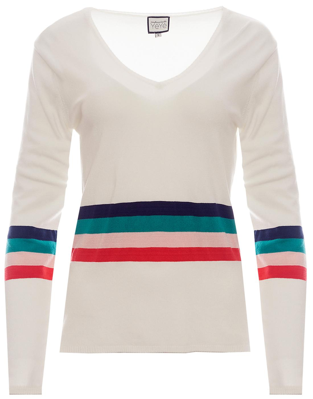 Belinda MADEMOISELLE YEYE 60s Mod Stripe Jumper