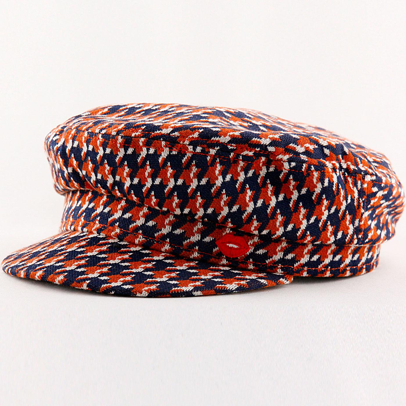 Think A Hat MADEMOISELLE YEYE Plaid Check Cap NAVY