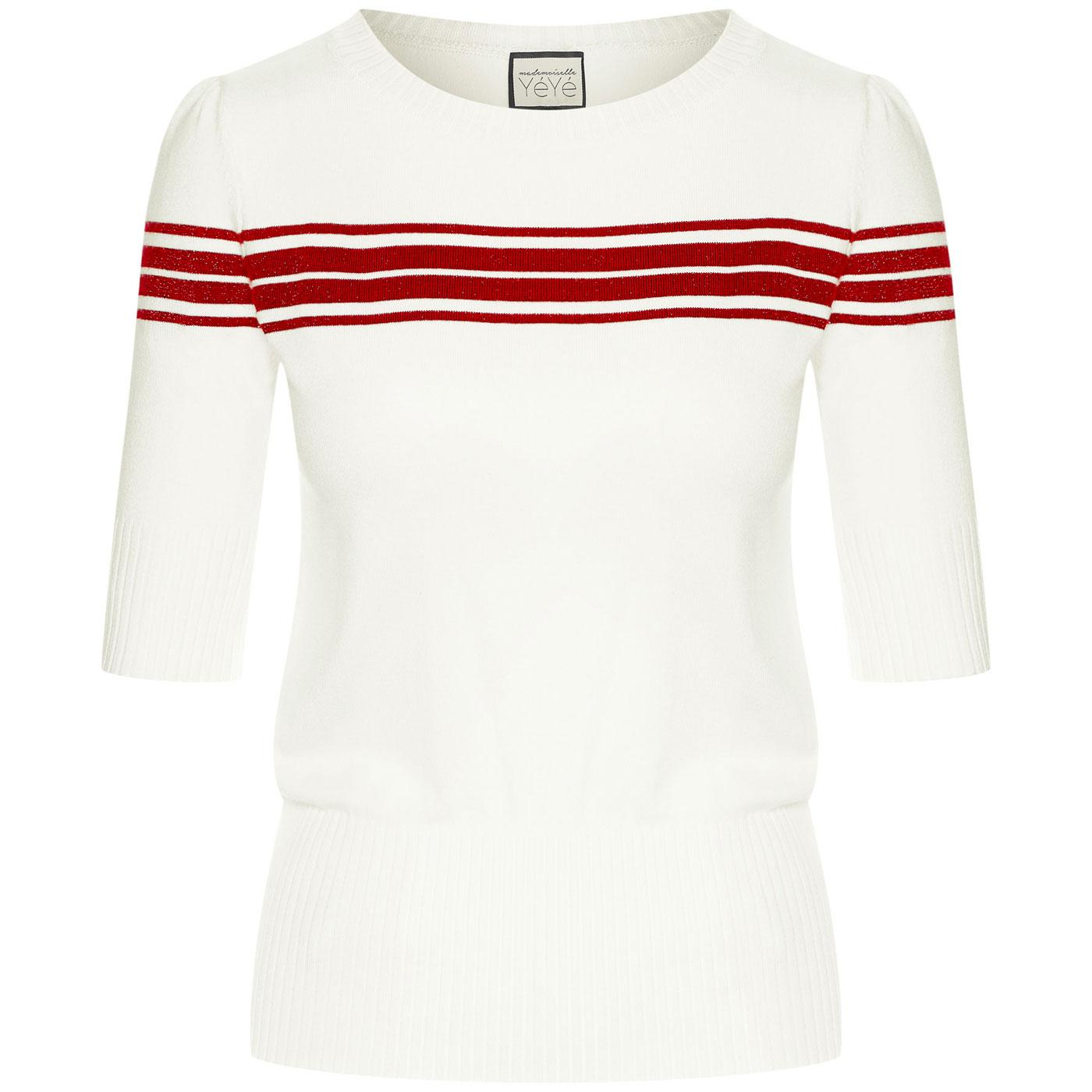 I Got Stripes MADEMOISELLE YEYE Knitted Top CREAM
