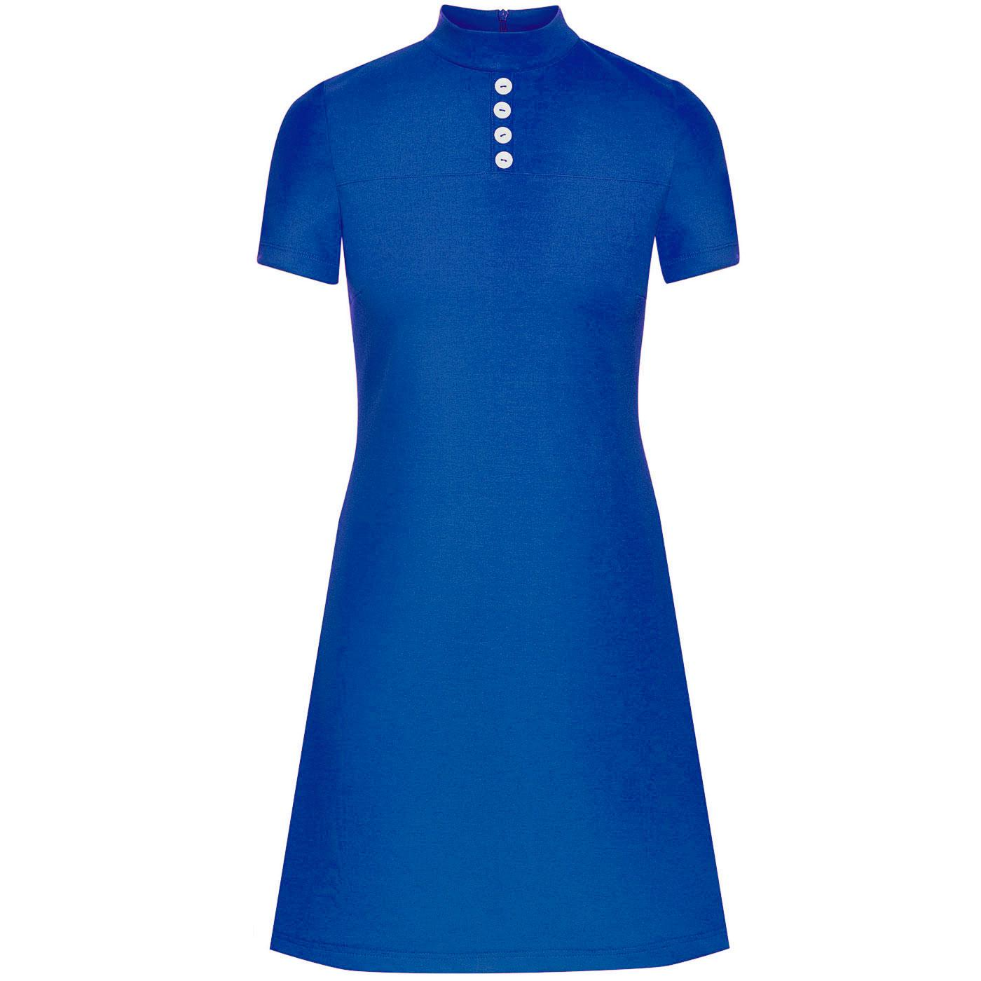 Pure Joy MADEMOISELLE YEYE 1960s Mod Dress (Blue)