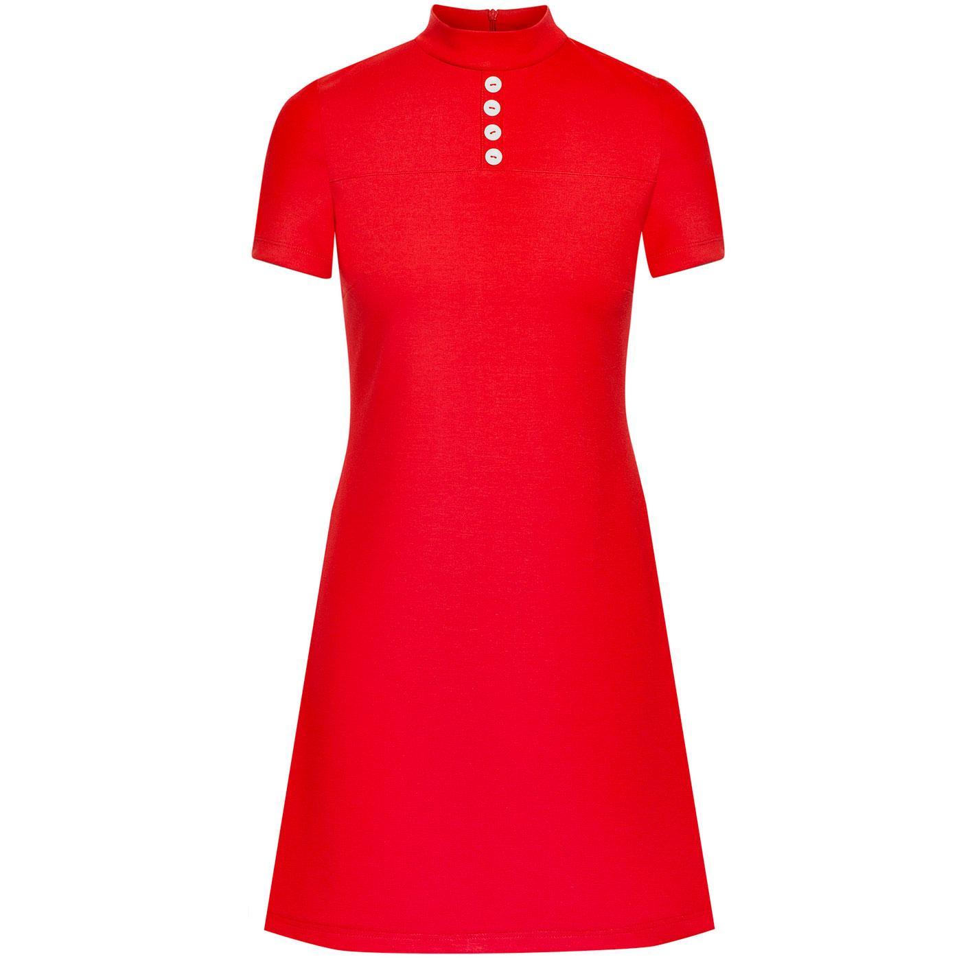 Pure Joy MADEMOISELLE YEYE 1960s Mod Dress (Red)