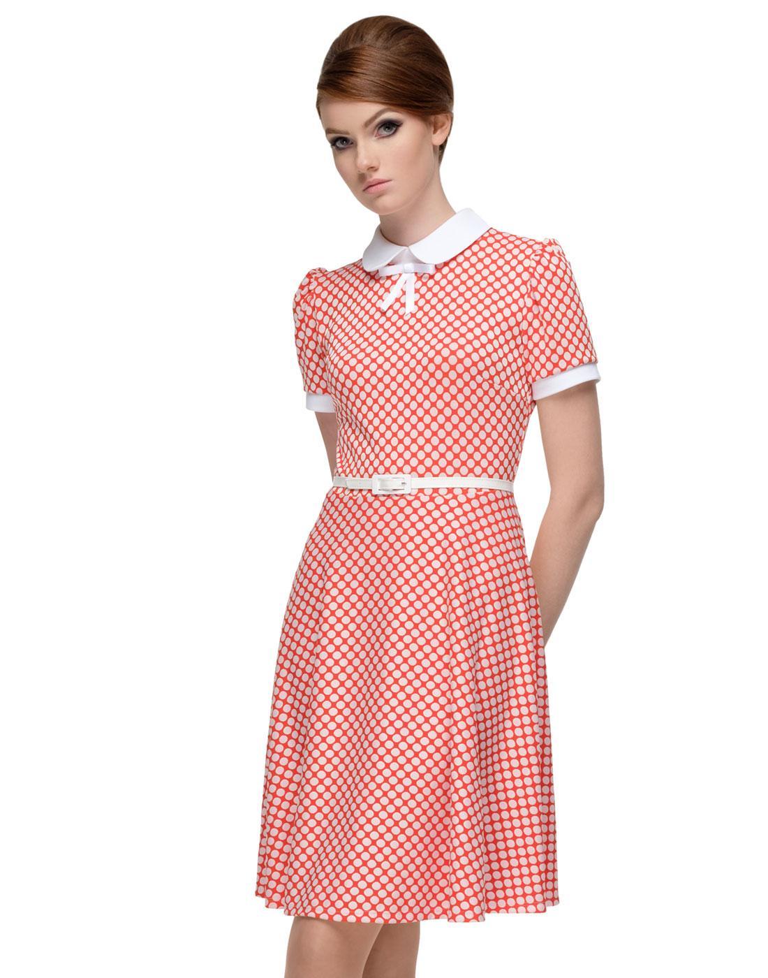 MARMALADE Retro 60s A-Line Polka Dot Mod Dress