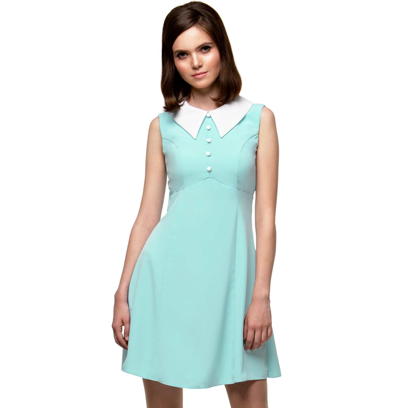 MARMALADE Retro 1960s Mod Big Collar Dress (Mint)