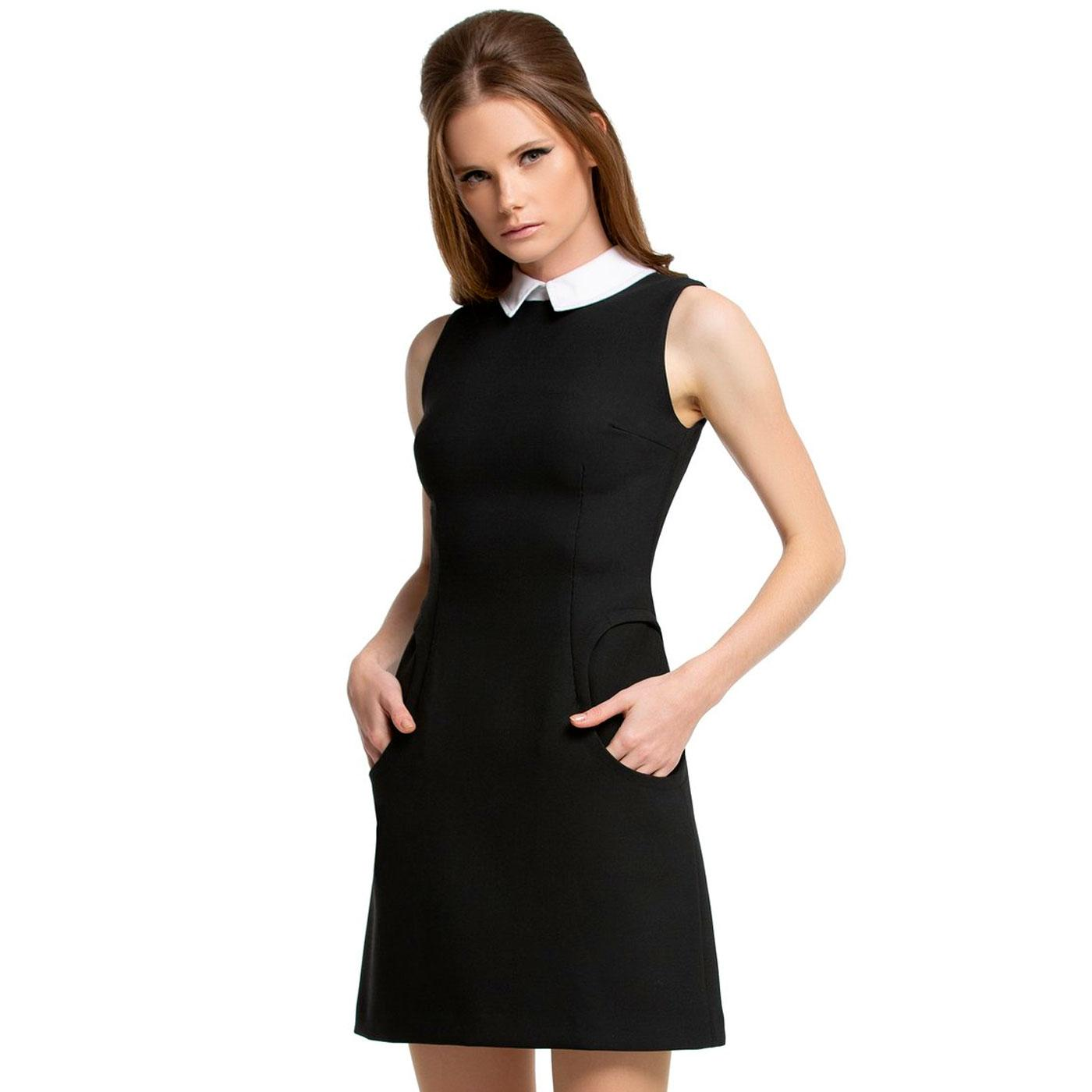 MARMALADE Mod Collared Circle Pocket Dress (Black)