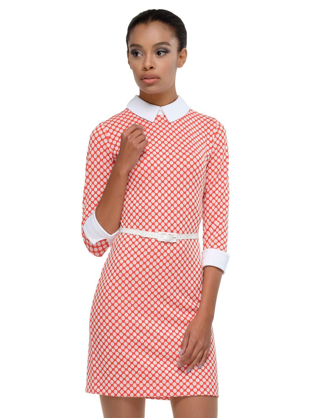 MARMALADE Retro 60s Polka Dot Dress with Sleeves