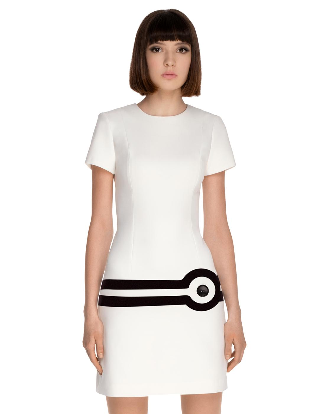 MARMALADE Retro 60s Mod Target Dress in White