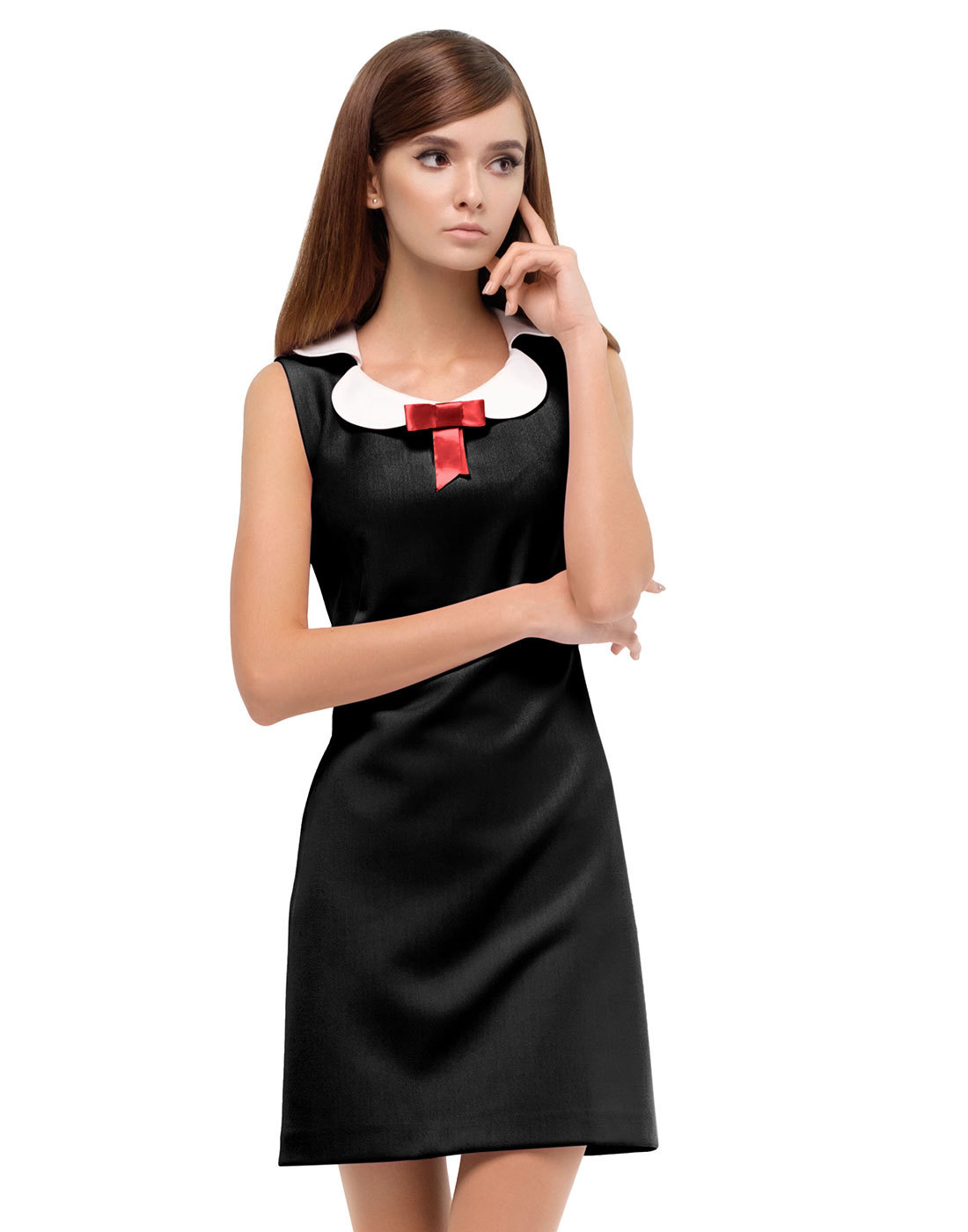 MARMALADE Retro 60s A-Line Mod Mini Dress in Black