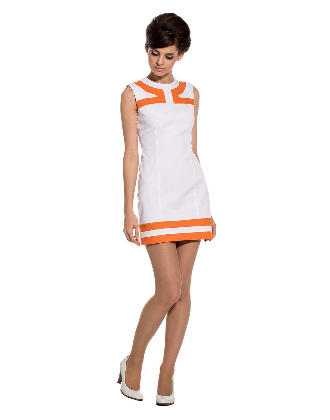 MARMALADE Retro 60s Mod Art Deco Trim Fitted Dress