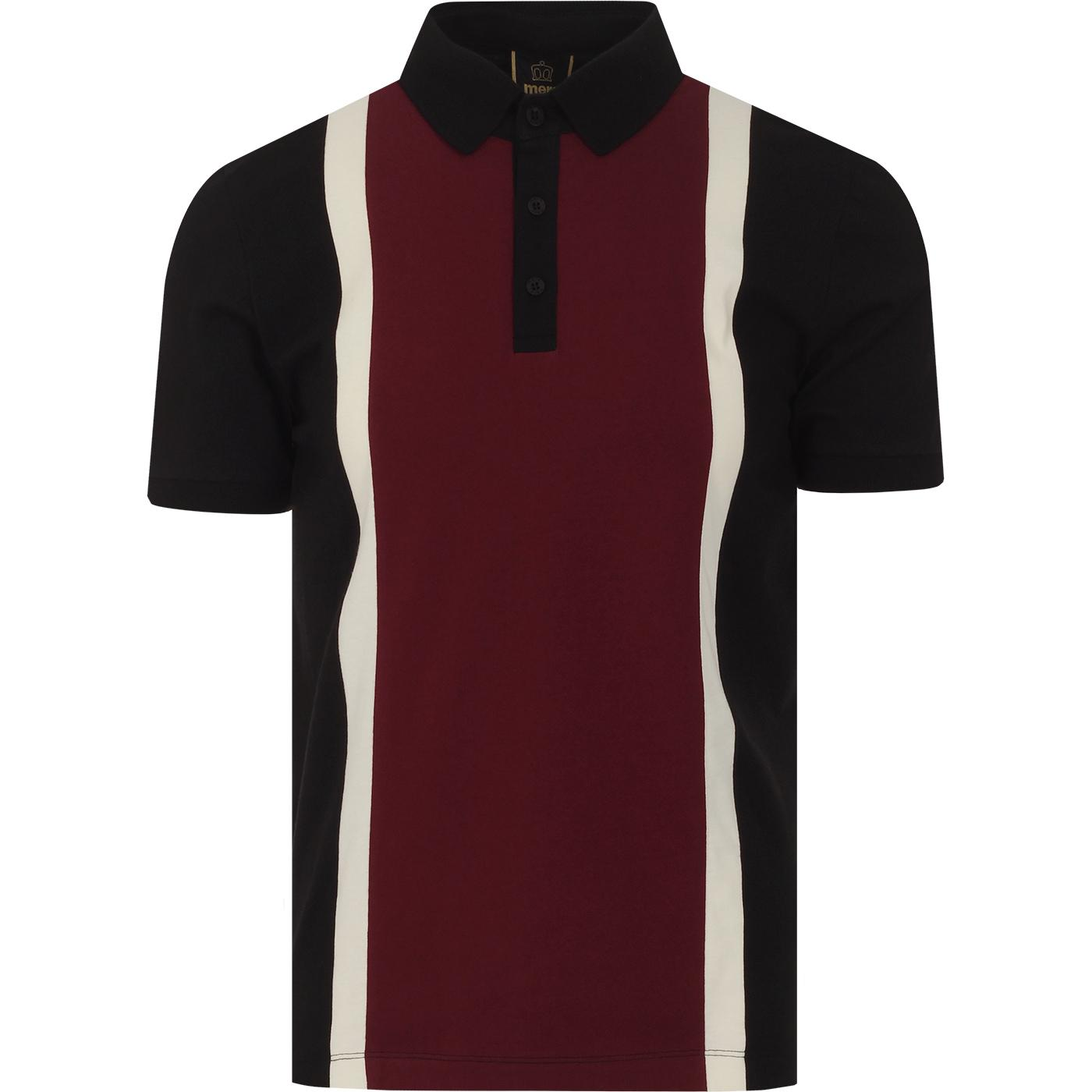 Atlas MERC Retro Mod Stripe Block Panel Polo Top B