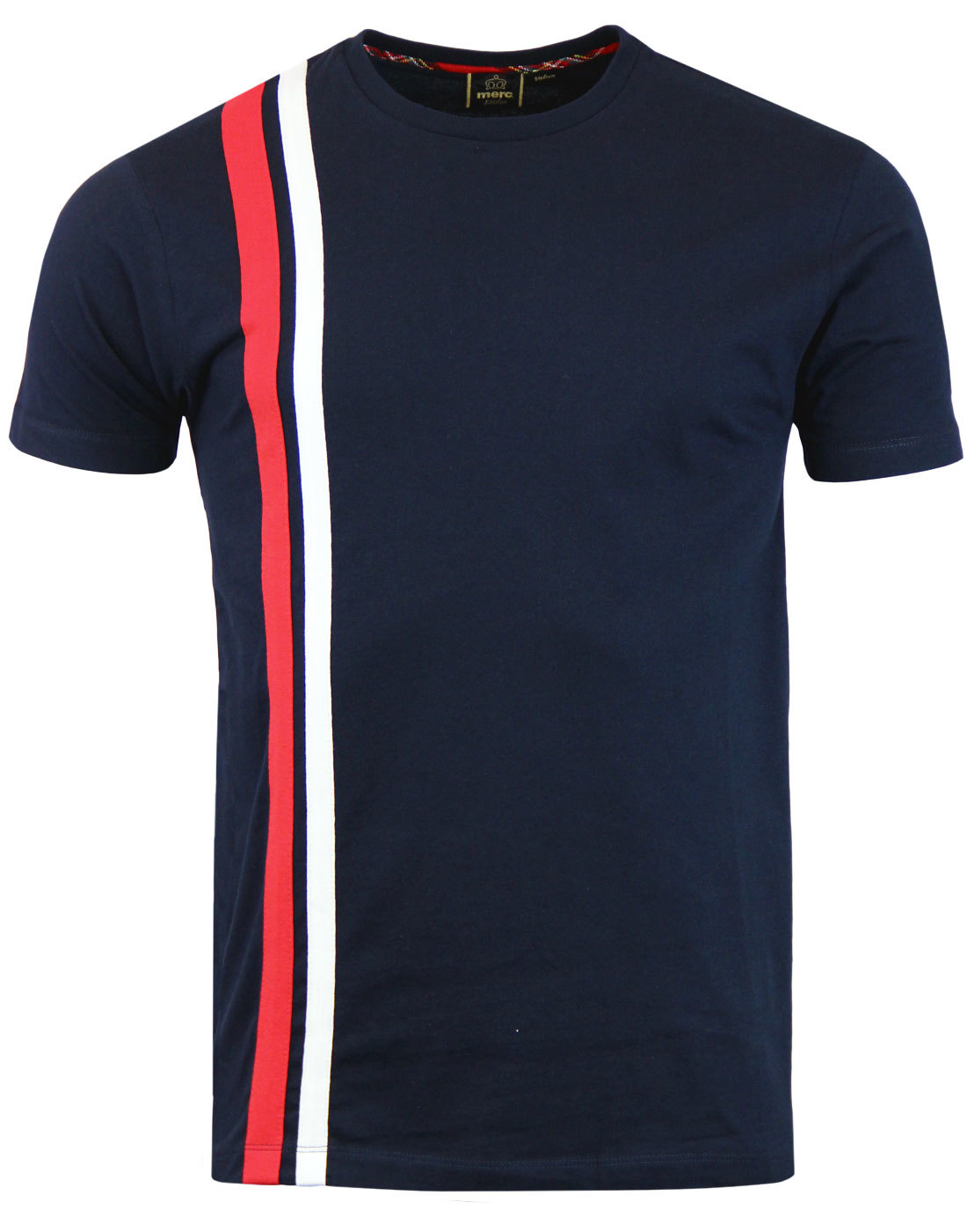Belmont MERC Retro Mod Cut & Sew Racing Stripe Tee