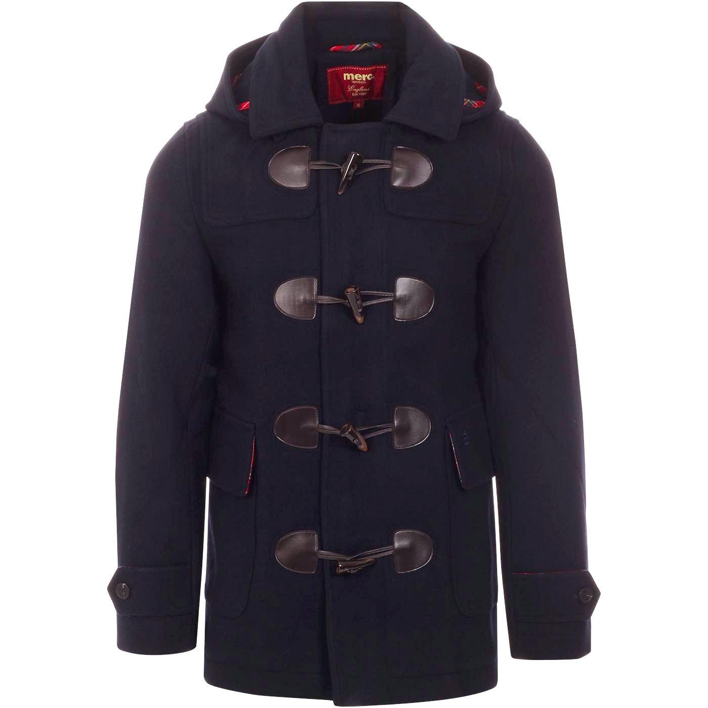 Bonner MERC Retro Mod Melton Duffle Coat DARK BLUE