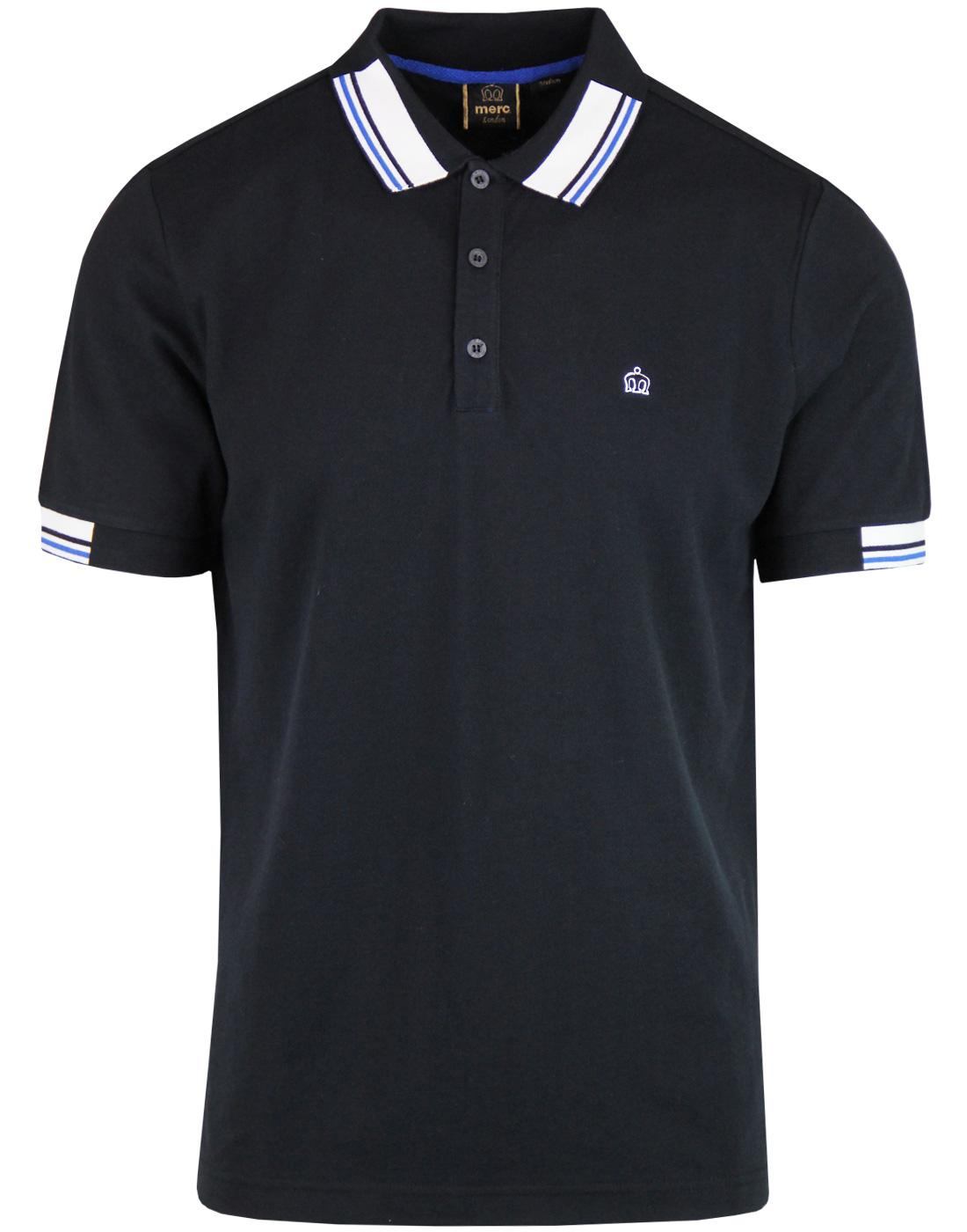 Brigade MERC Retro Mod Stripe Collar Polo Top (B)