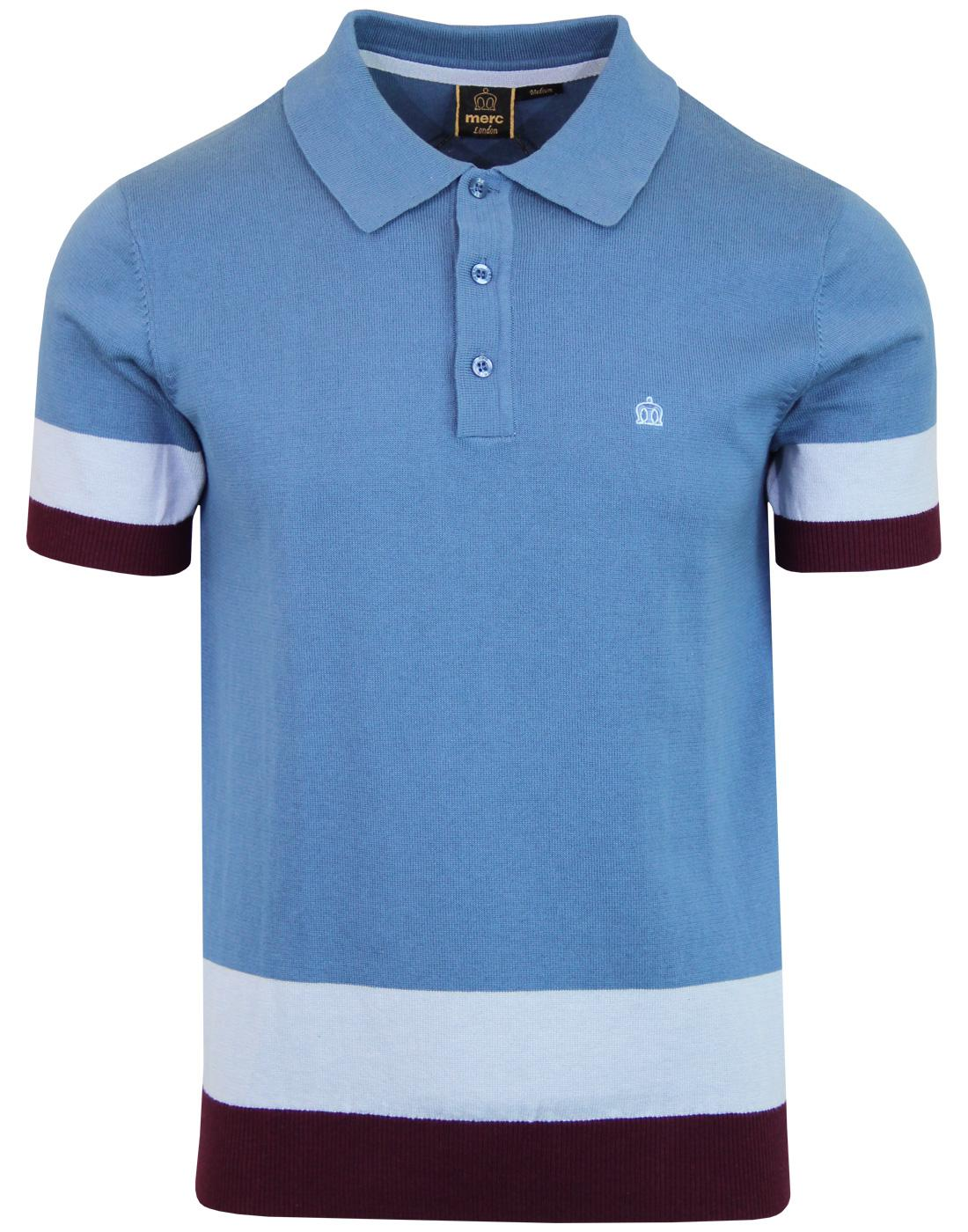 Captain MERC 60s Mod Colour Block Knitted Polo Top