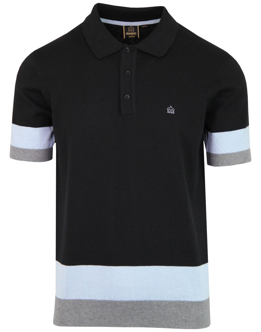 Captain MERC Mod Colour Block Knit Polo Shirt (B)