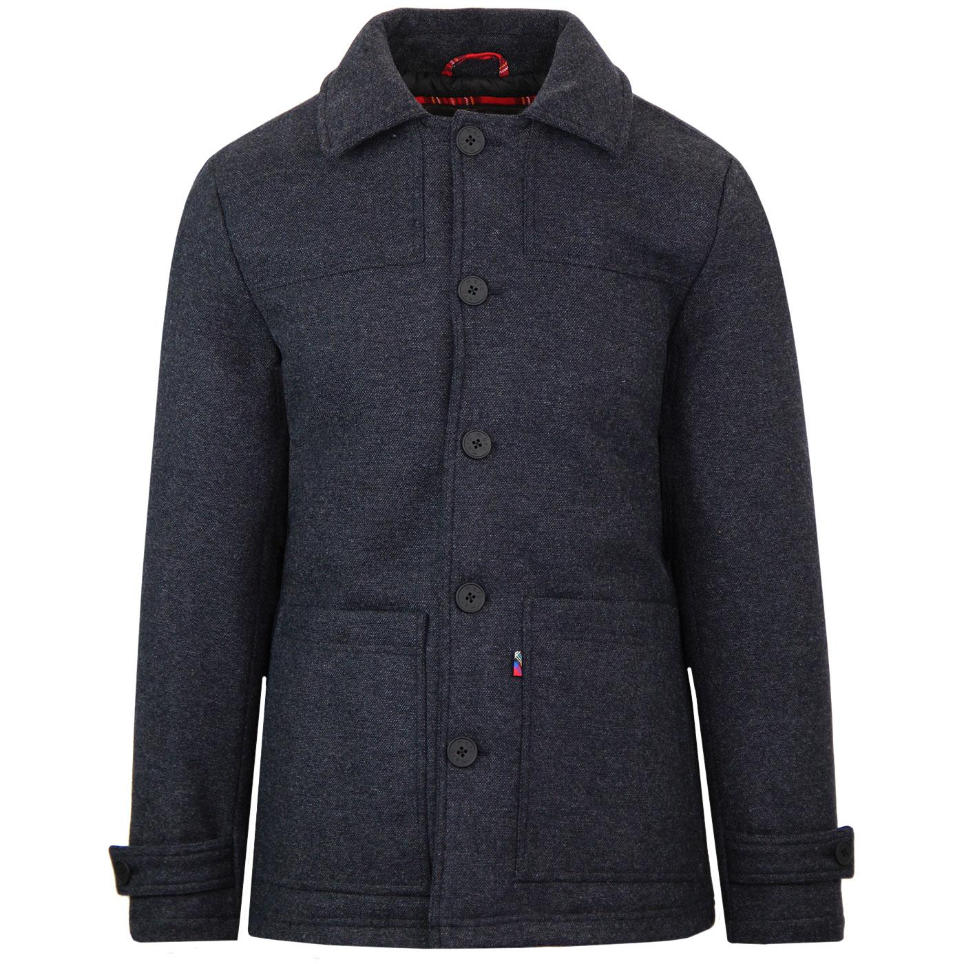 Chiswick MERC Mod Tweed Donkey Jacket (Navy Marl)