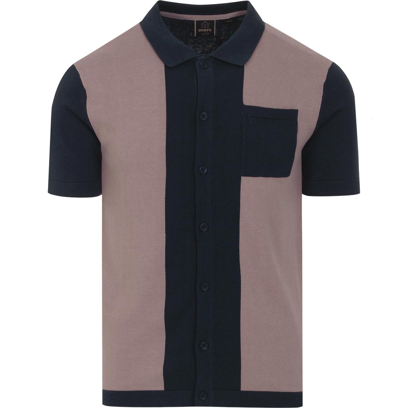 Conduit MERC 60s Mod Panel Knit Polo Cardigan (DB)