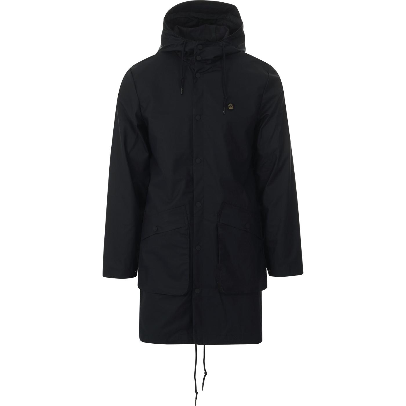Fitzroy MERC Retro Mod Fishtail Parka Jacket NAVY