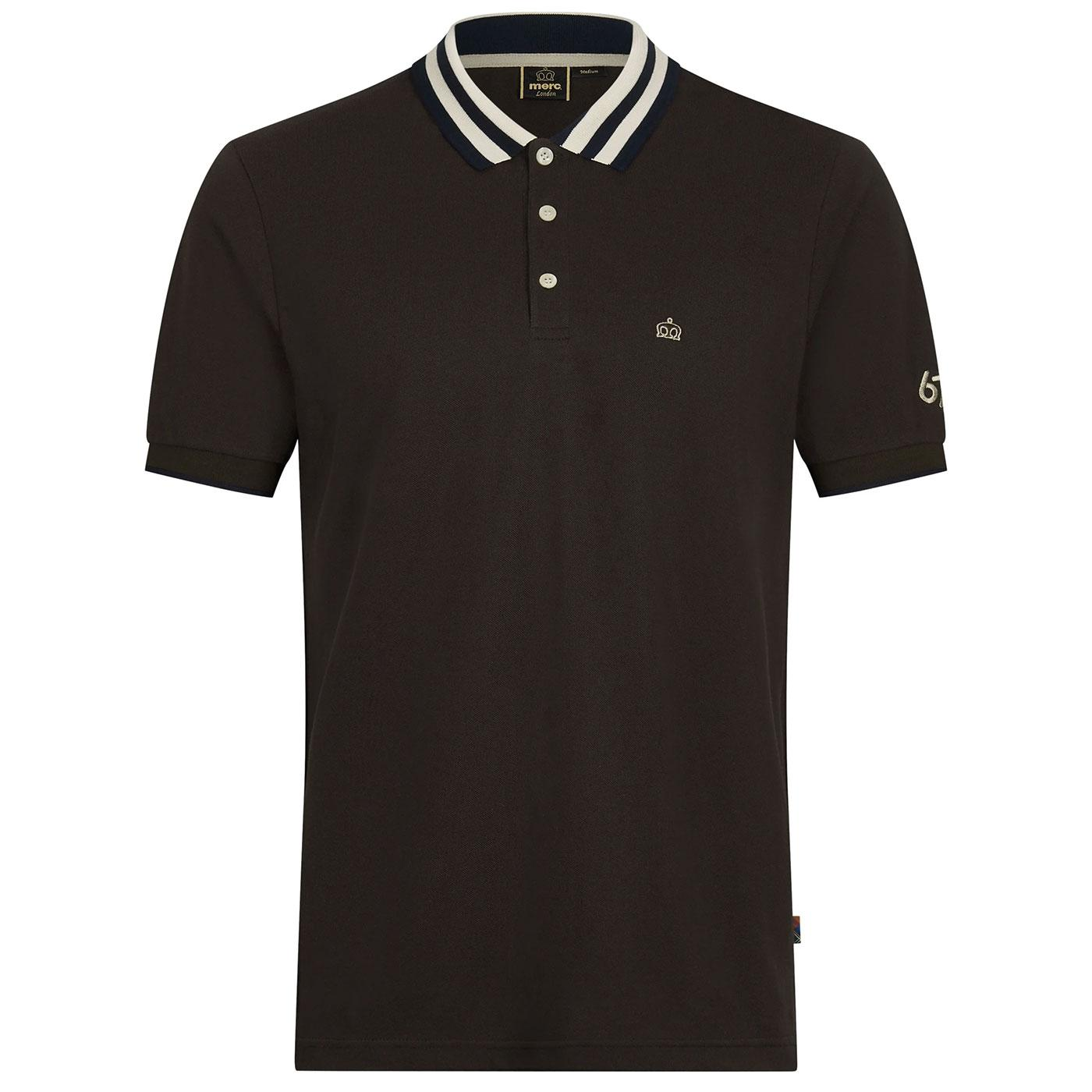 Folly MERC Retro Tipped Collar Pique Polo Shirt DB
