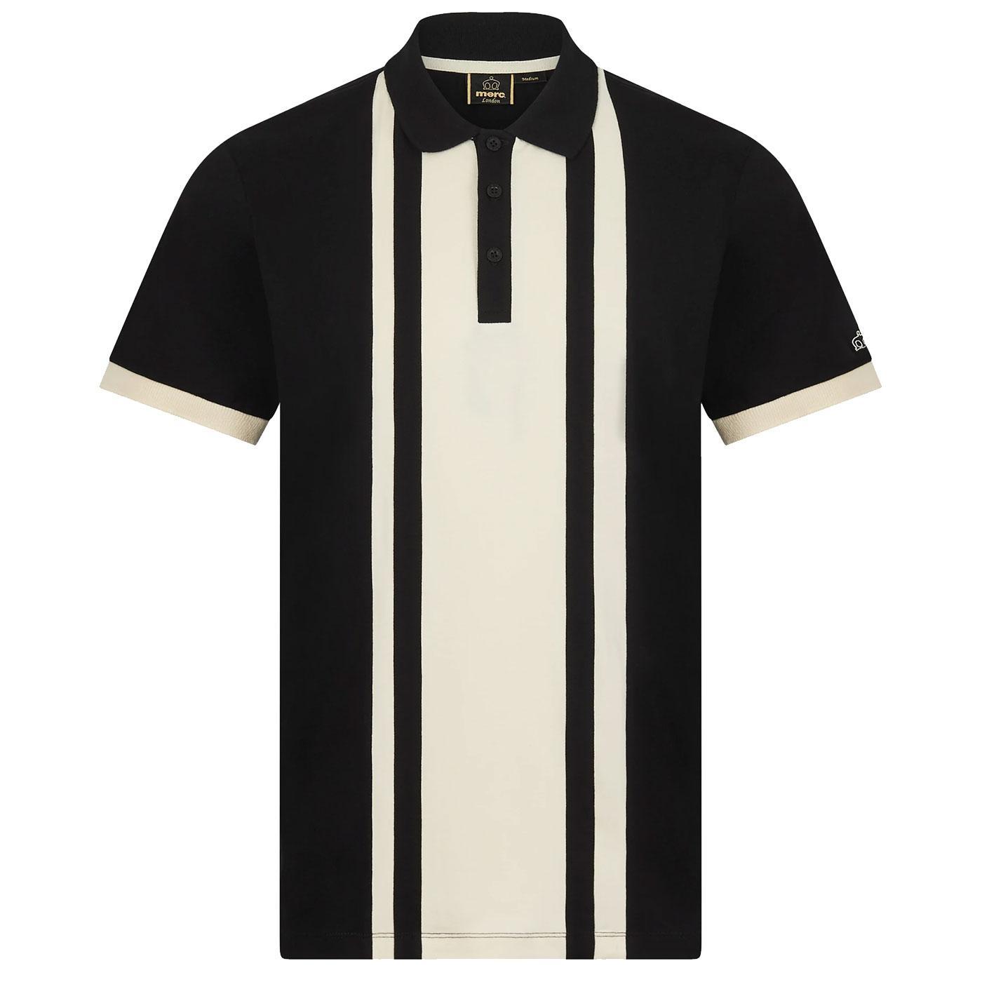 Fry MERC Retro Mod Veritcal Cut & Sew Stripe Polo