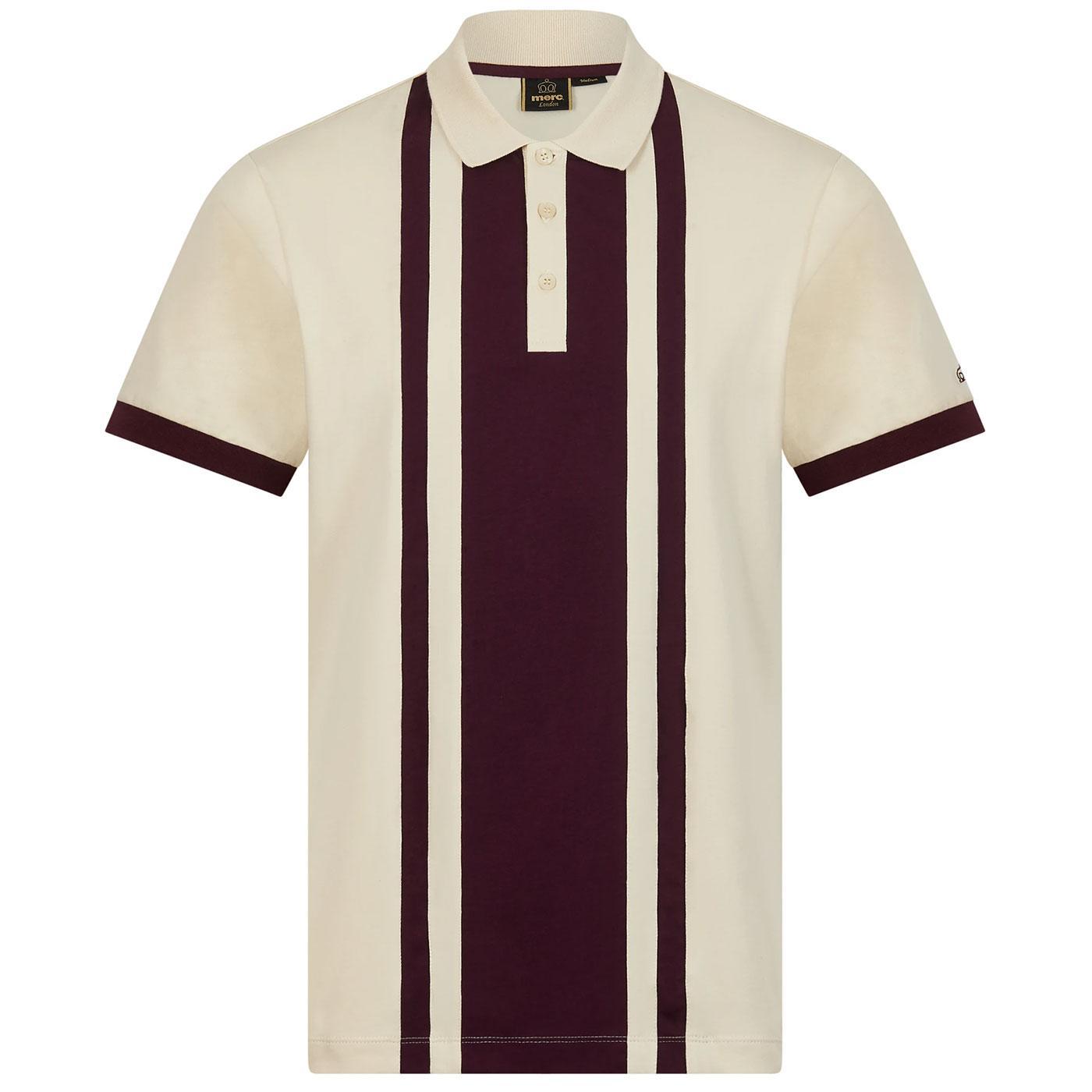 Fry MERC Retro Veritcal Cut & Sew Stripe Polo (I)