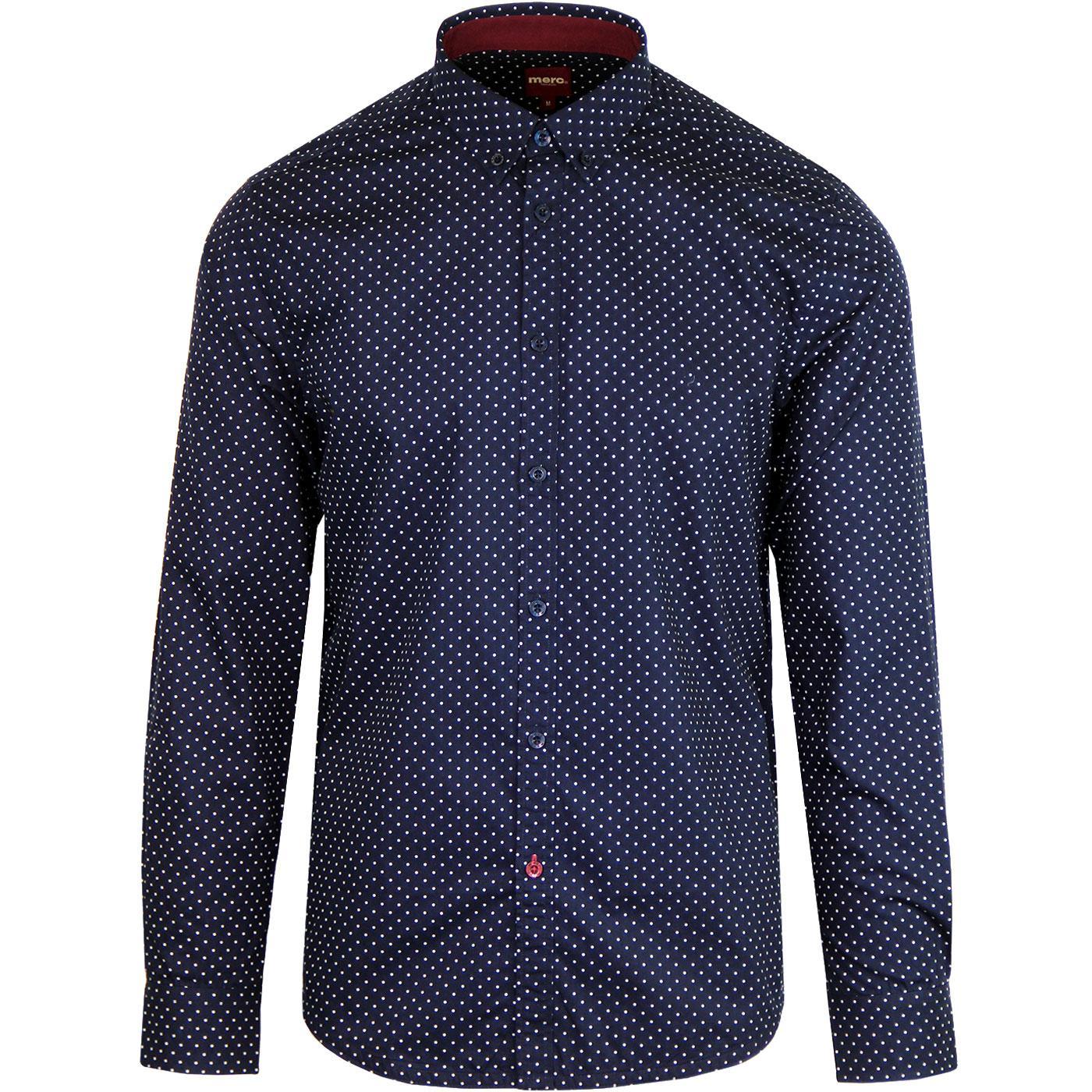 Siegel MERC Retro Sixties Polka Dot Mod Shirt (N)