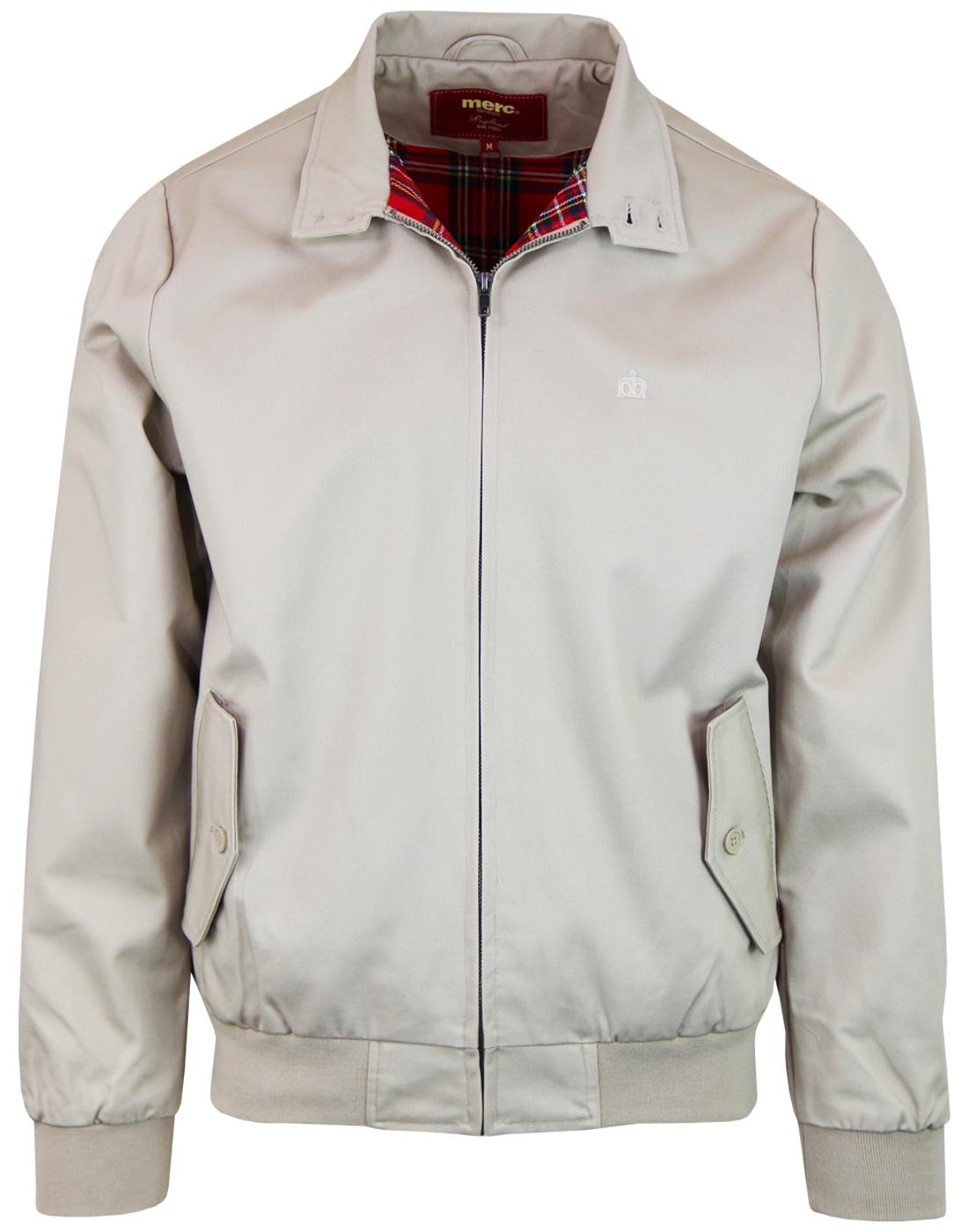 MERC Retro Mod Classic Harrington Jacket (BEIGE)