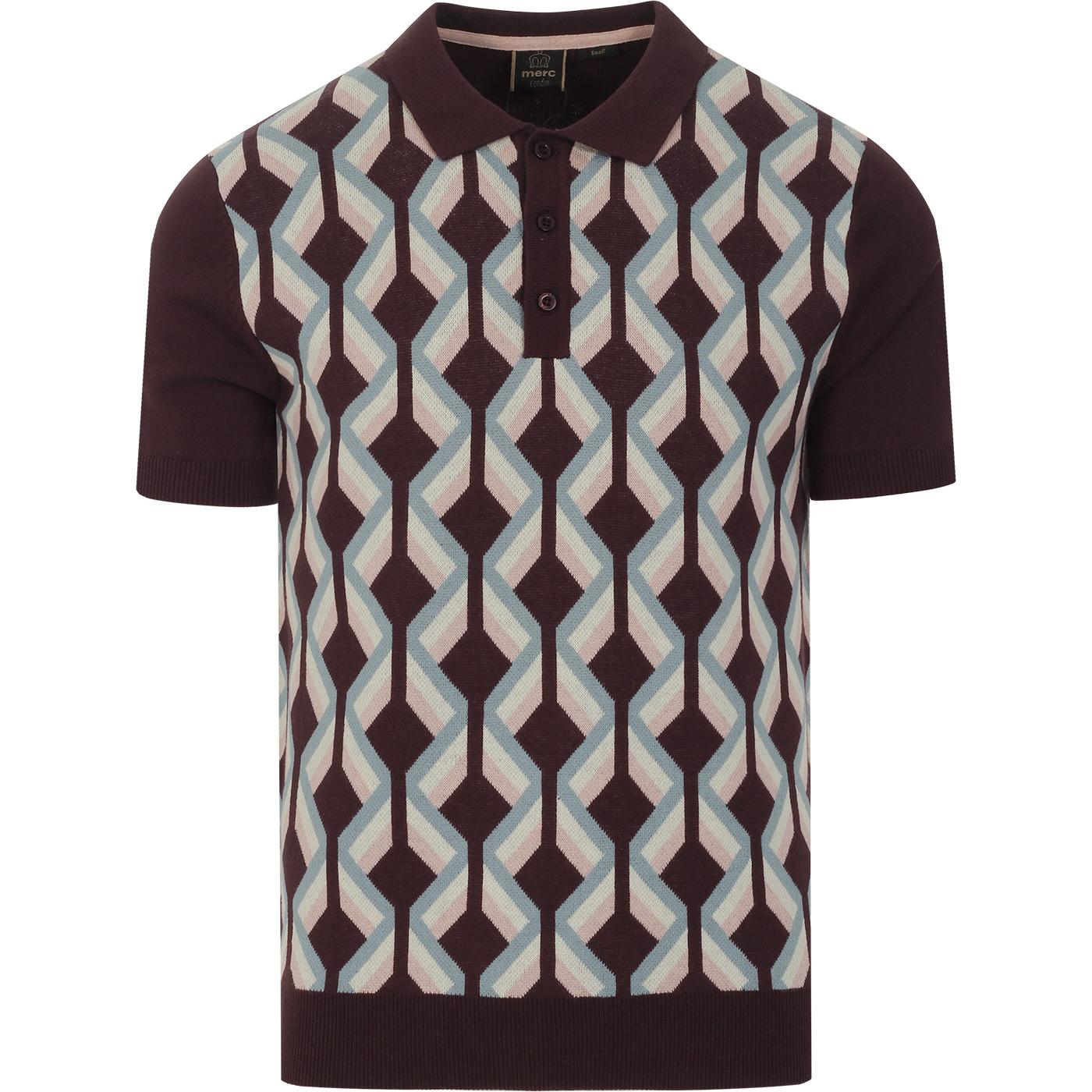 Jordan MERC Argyle Twist 60s Mod Knit Polo (Grape)
