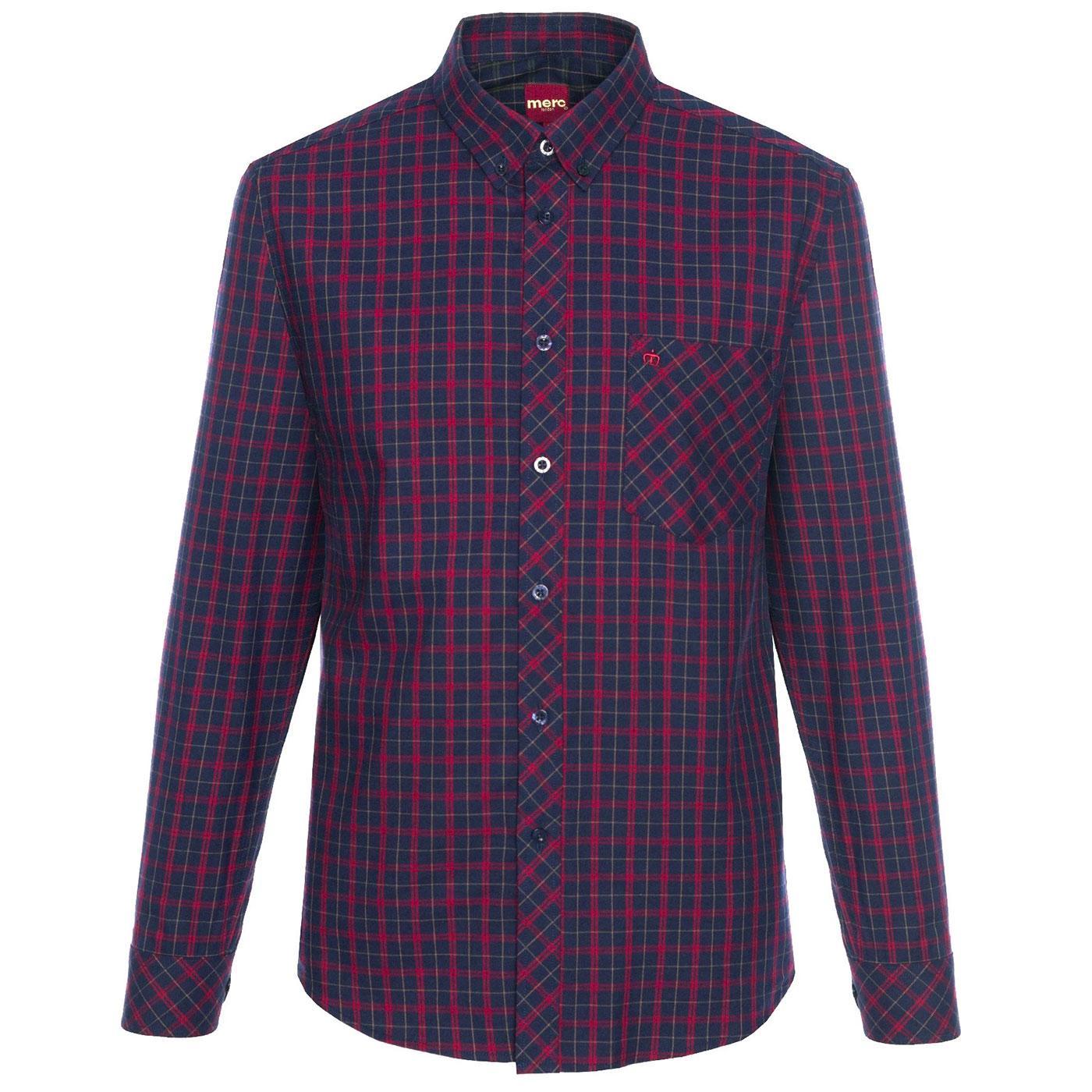 Keller MERC Men's Retro Mod Check Flannel Shirt