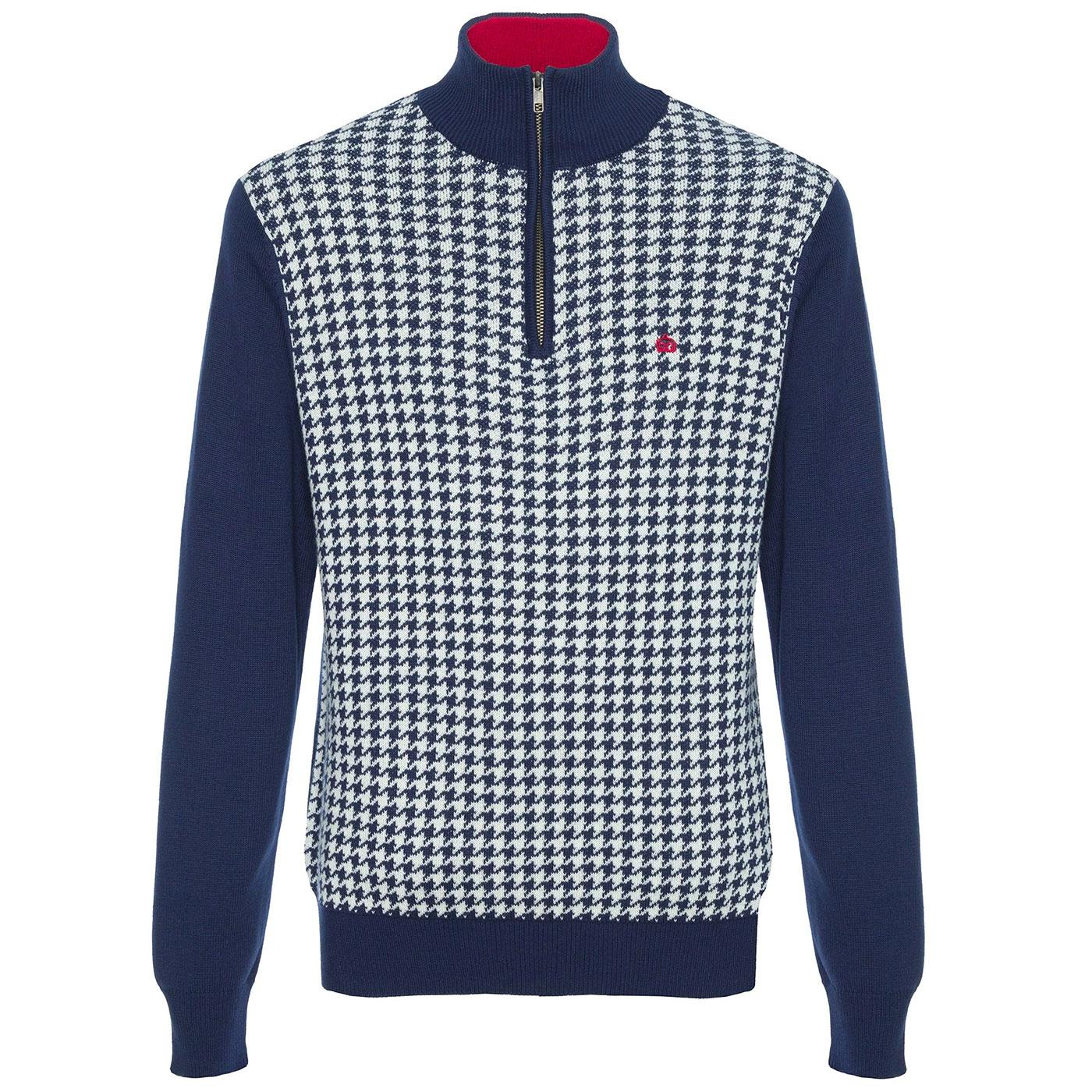 Lockhill MERC Retro Mod Dogtooth Knitted Zip Top N
