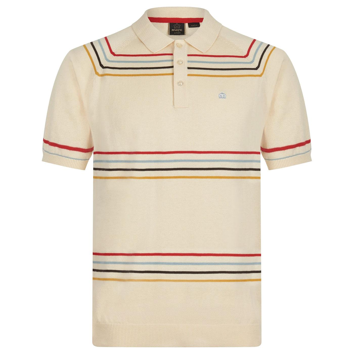 Madison MERC 1960's Bold Stripe Knitted Polo I