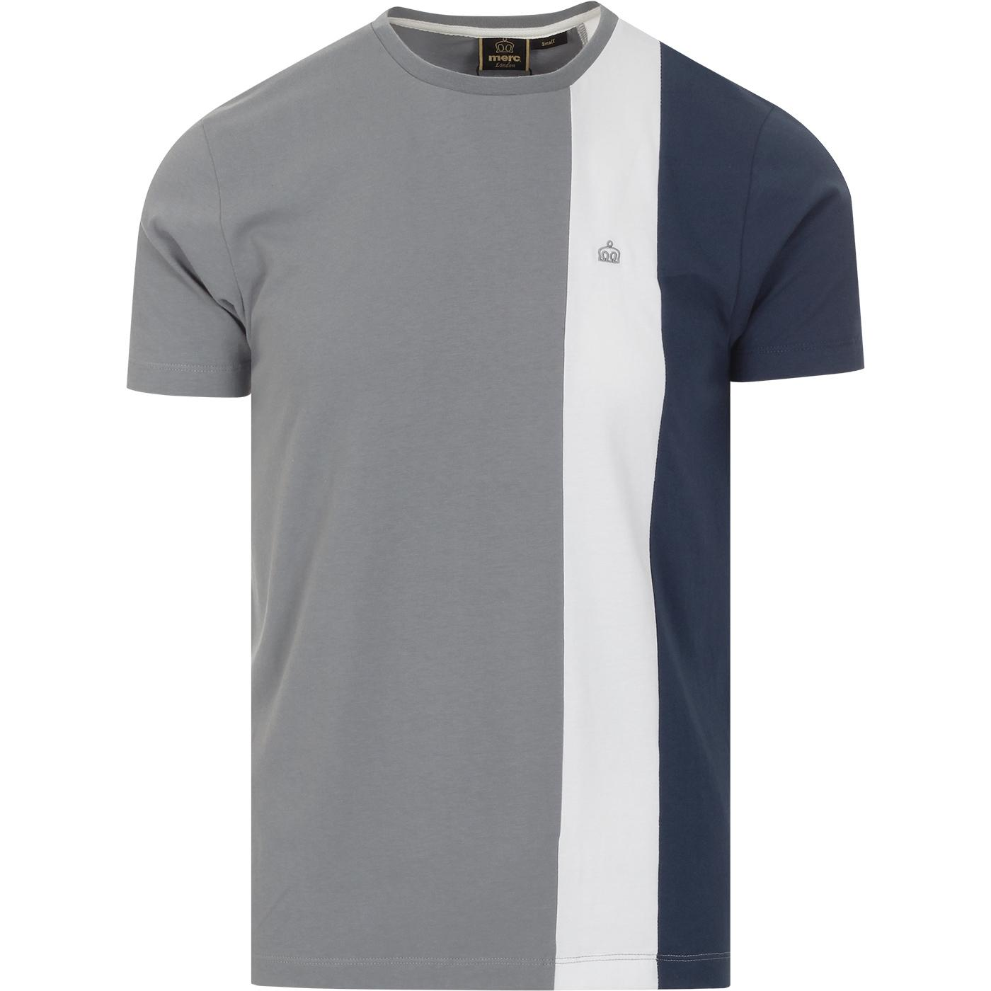 Naples MERC Retro Mod Block Stripe T-shirt (Slate)