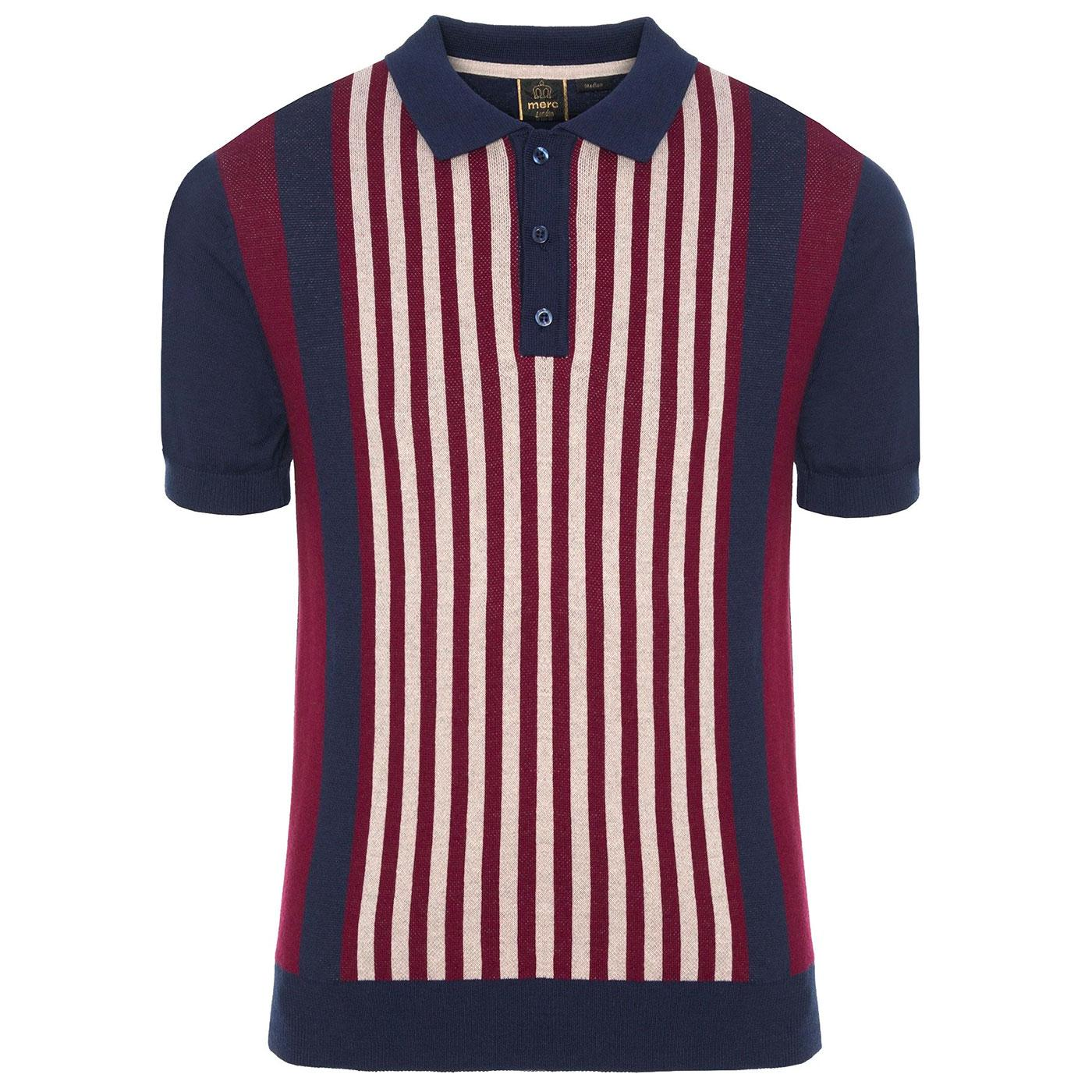 Northbrook MERC Retro 60s Mod Knitted Polo Shirt N